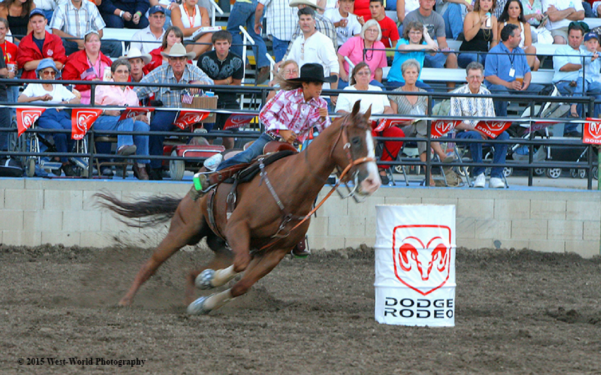 Rodeo barrel racing by locationshooter