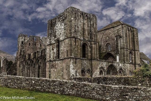 Llanthony 12th Century Priory by Peter Michael Dedes