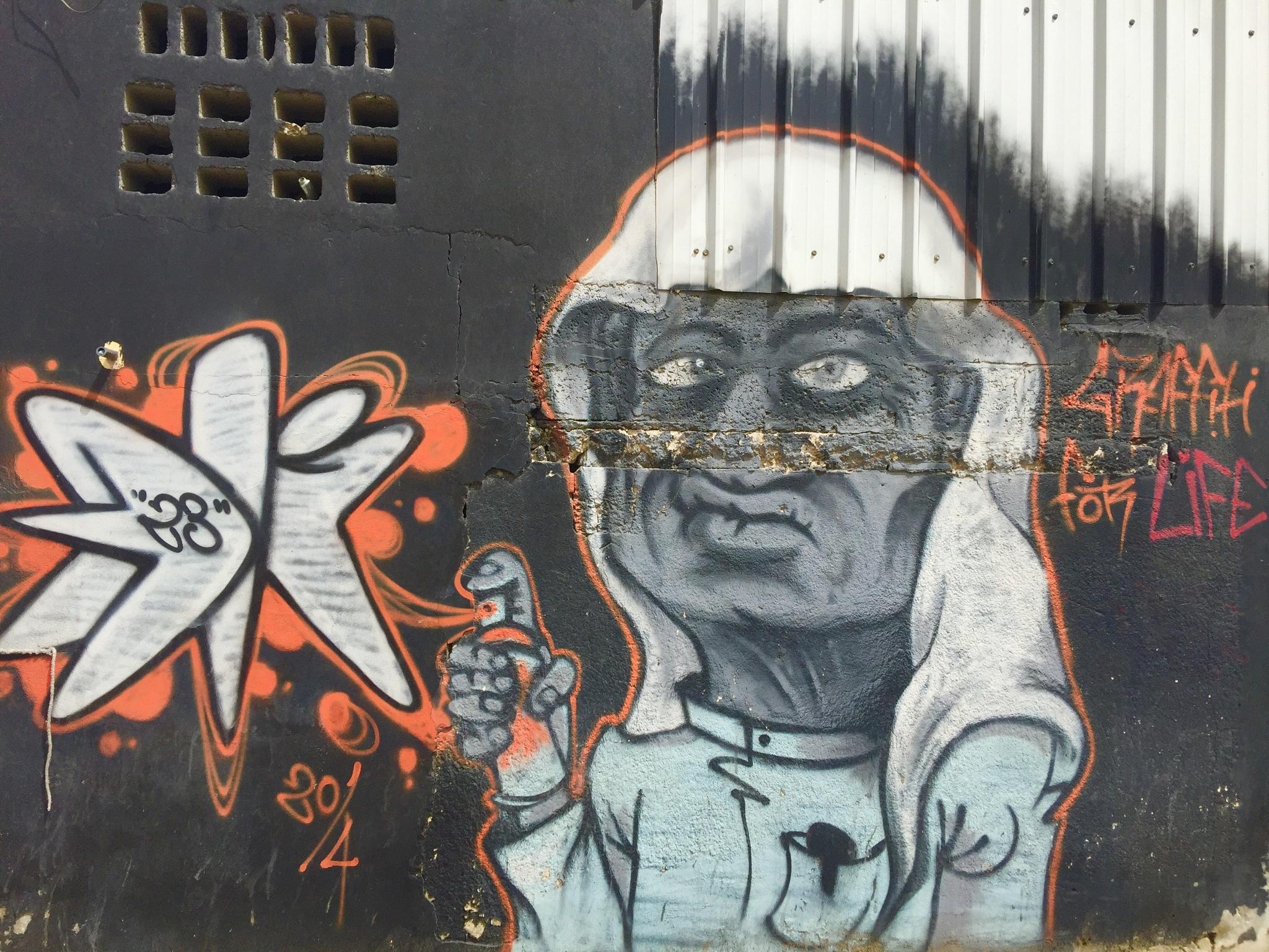 Graffiti the art of walls by Sadiq Ali AlQatari