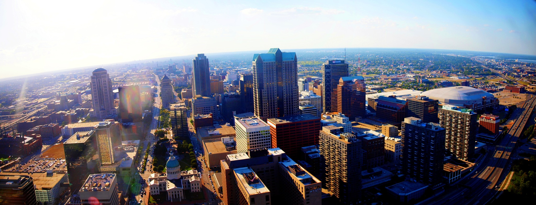 St. Louis From The top of the Arch by Sadiq Ali AlQatari