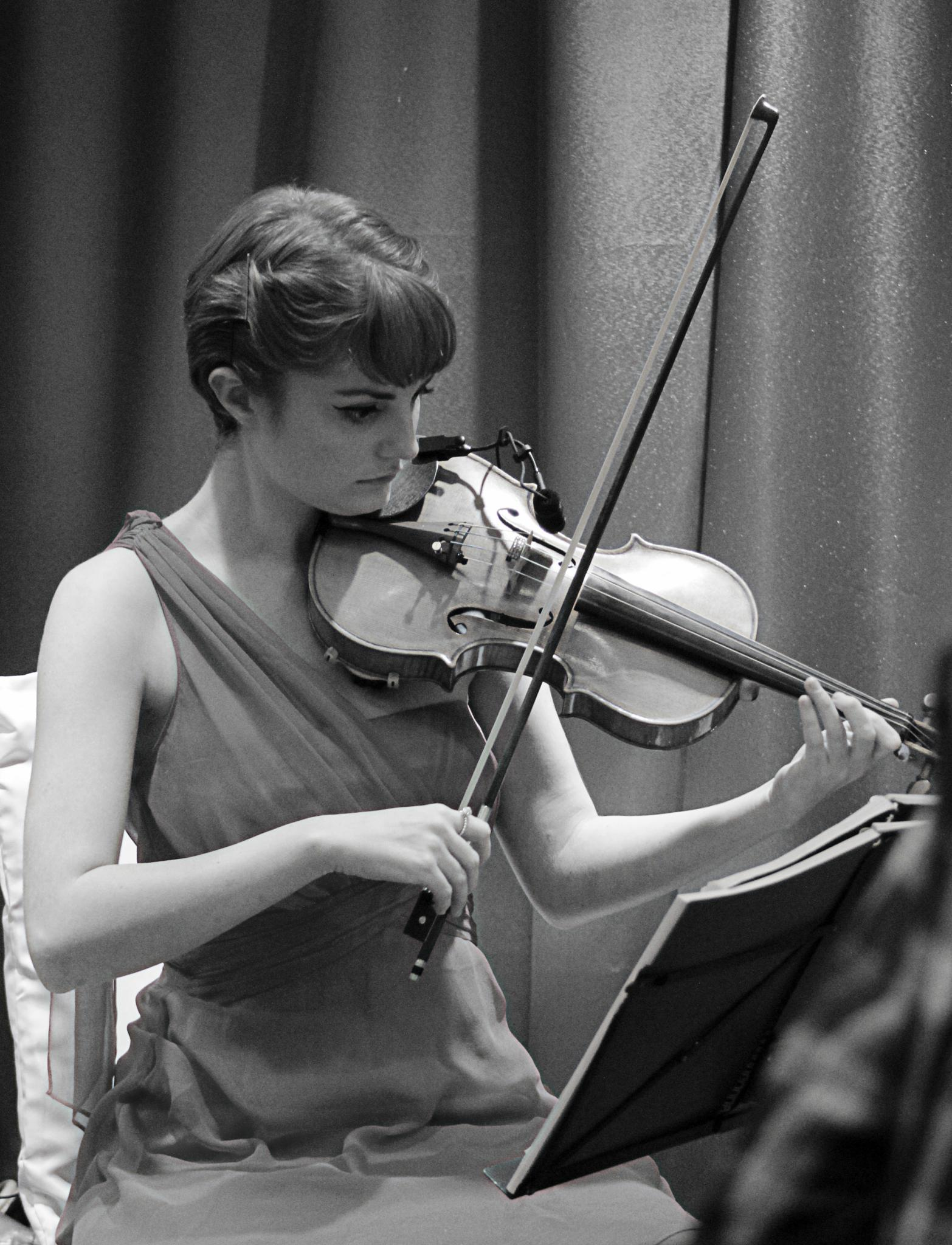 Photo in Black and White #instrument #violin #london