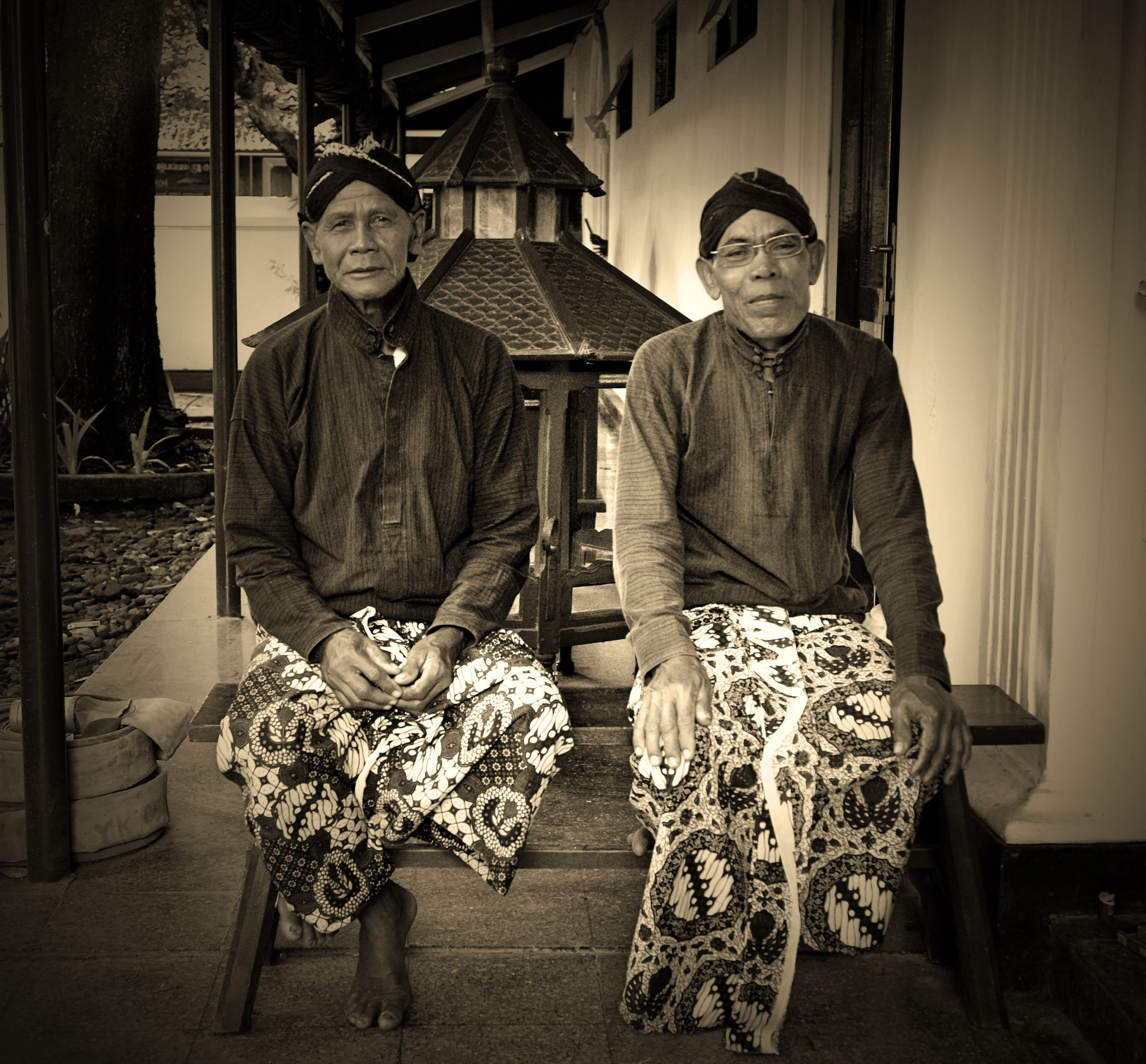 The guards of Sultan palace in Yogyakarta by Herodion Luas