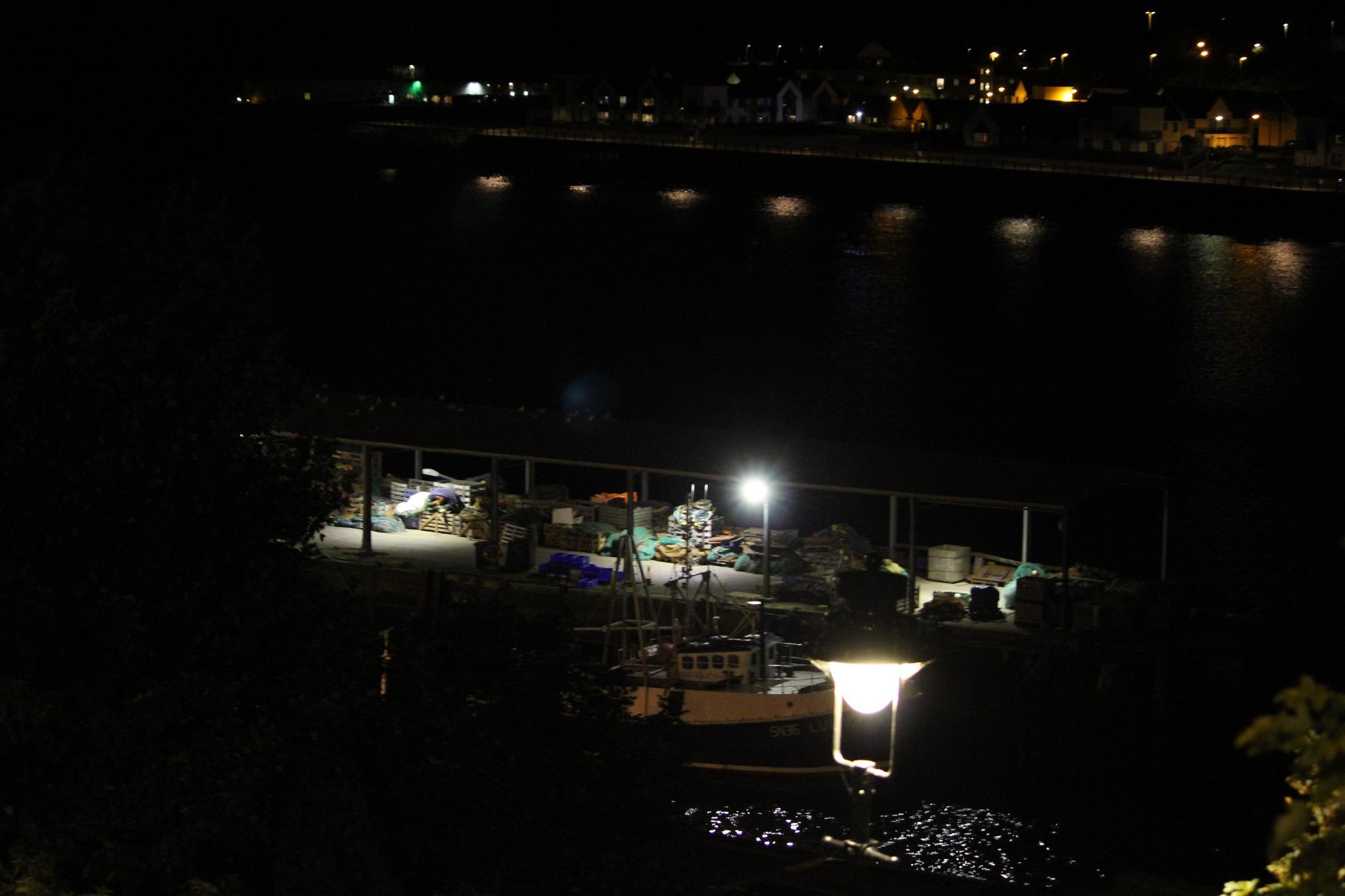 Fishing Boat at night by Craig Neve