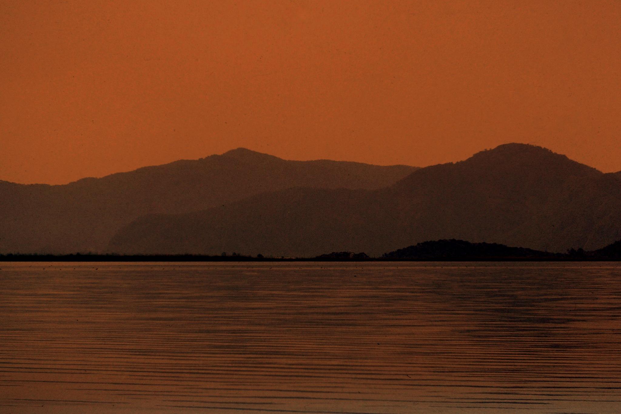 BEAUTIFUL  MEDITERRENEAN COASTS, AFTER SUNSET by Akin Saner