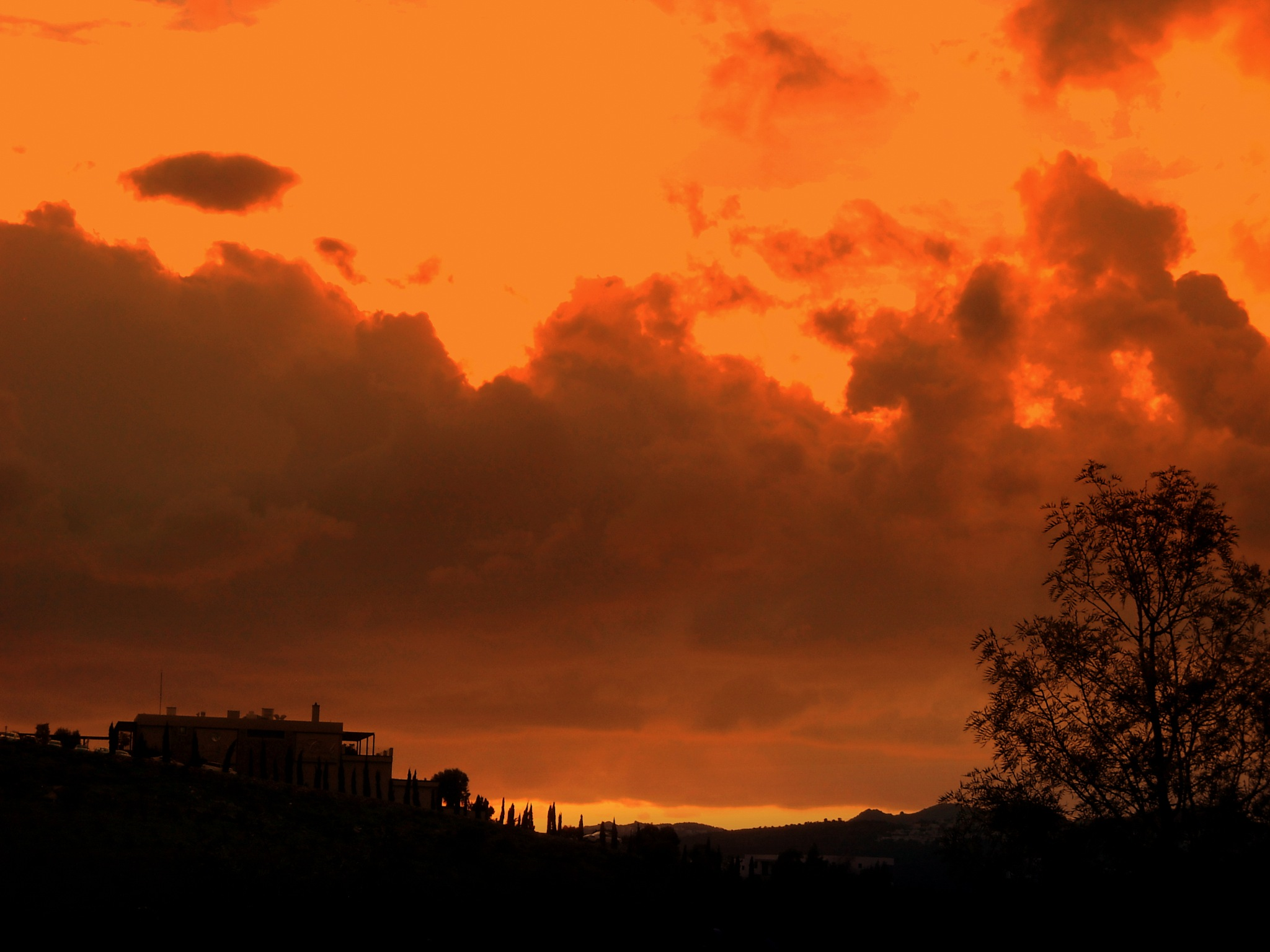 Photo in Landscape #winter sunset #from #my balcony #bitez #bodrum #close up