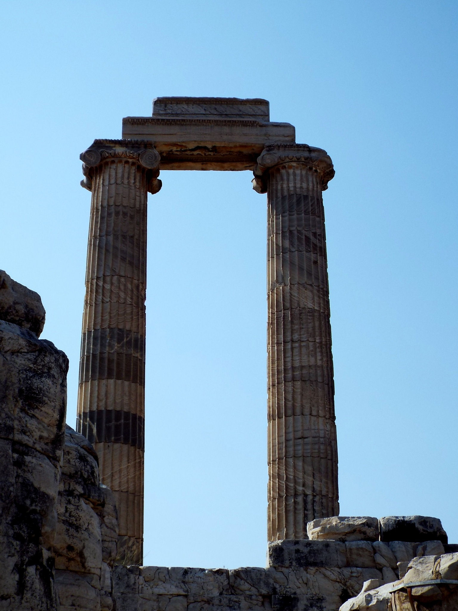 A VIEW FROM HISTORICAL APOLLON TEMPLE, DYDYMA by Akin Saner