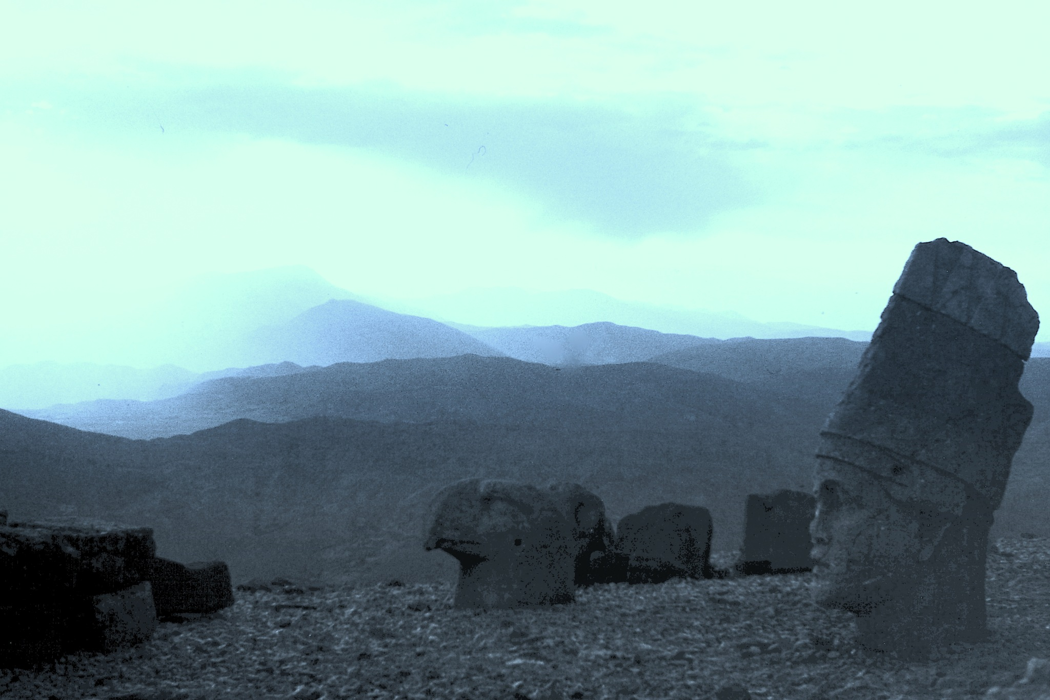VIEW FROM COMMAGENE TUMULUS, MONTH NEMRUT by Akin Saner