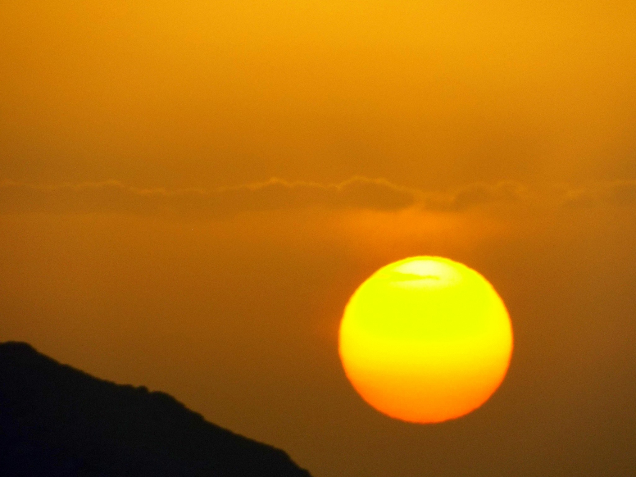 SETTING SUN , A CLOUDY DAY, FROM MY BALCONY by Akin Saner