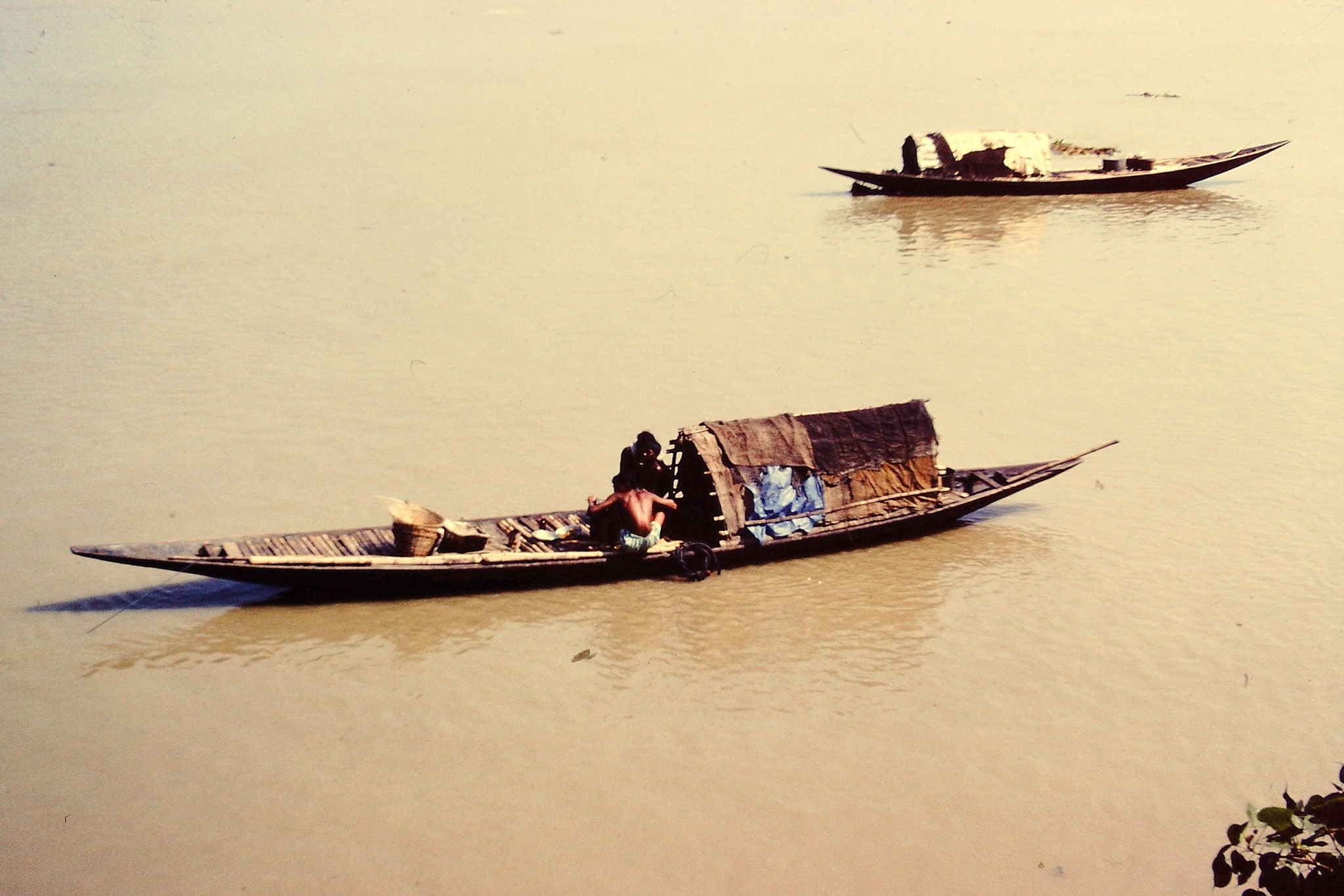THE RIVER GANGES, CALCUTTA, INDIA by Akin Saner