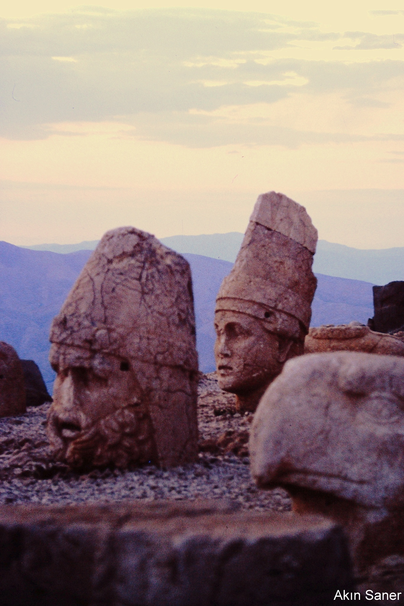 MOUNT NEMRUT, COMMAGENE TUMULUS,WEST TERRACE by Akin Saner