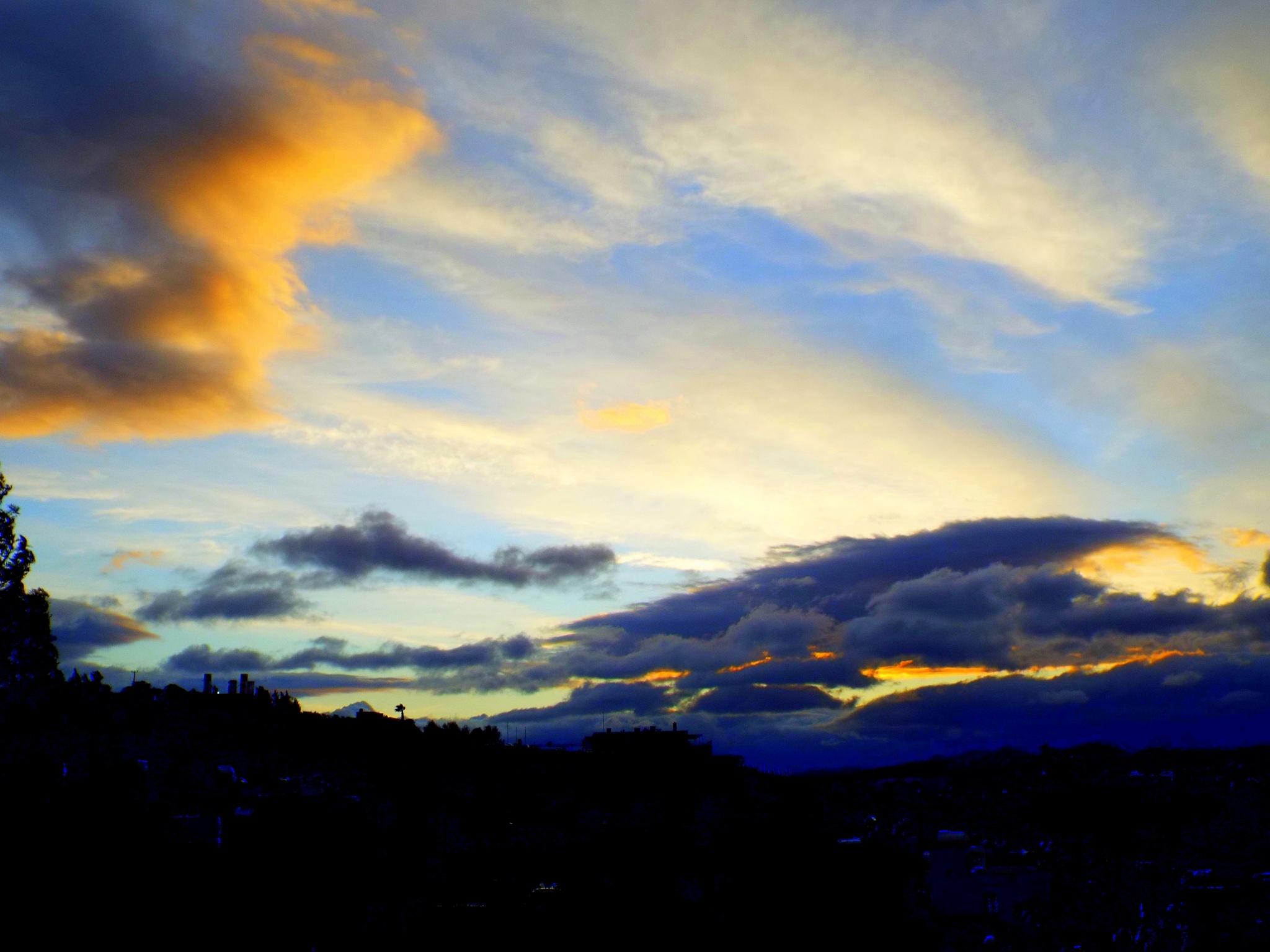 SUNSET FROM MY BALCONY, BITEZ, BODRUM/TURKEY by Akin Saner