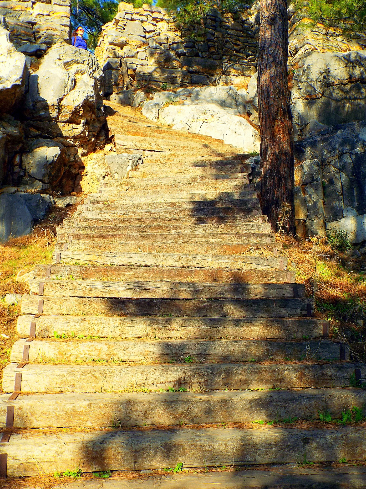 STEPS GOING UP TO PEDASA, ANCIENT CITY, BODRUM/TURKEY by Akin Saner