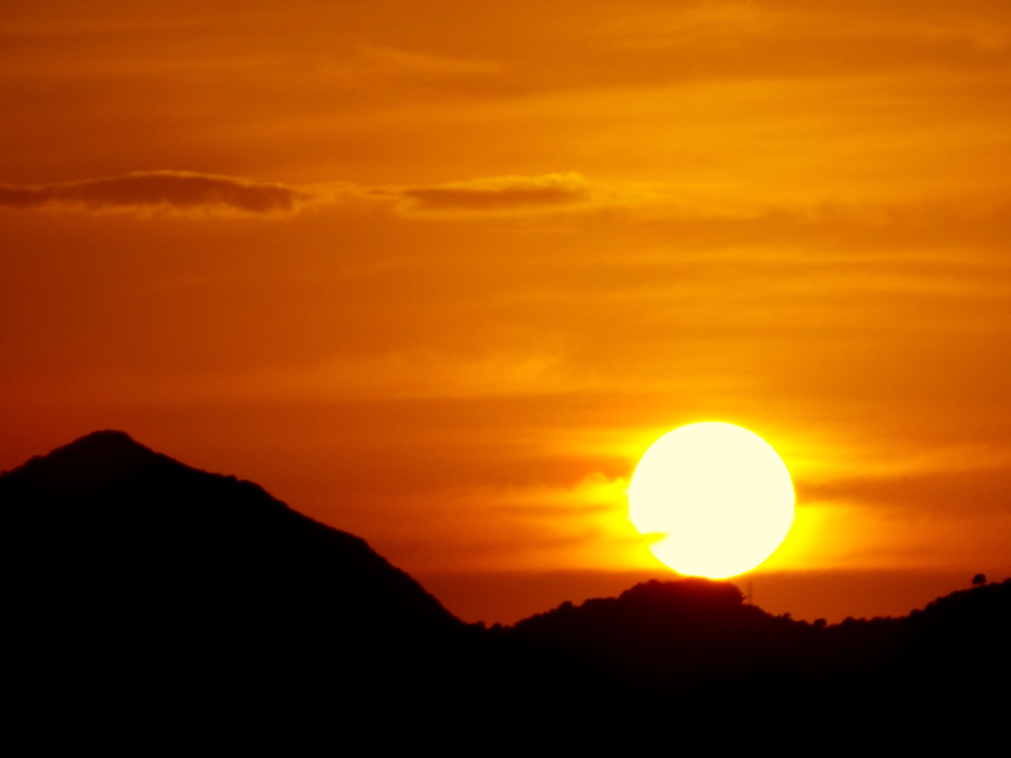 GOOD NIGHT FROM BODRUM, TONIGHT'S SUNSET by Akin Saner