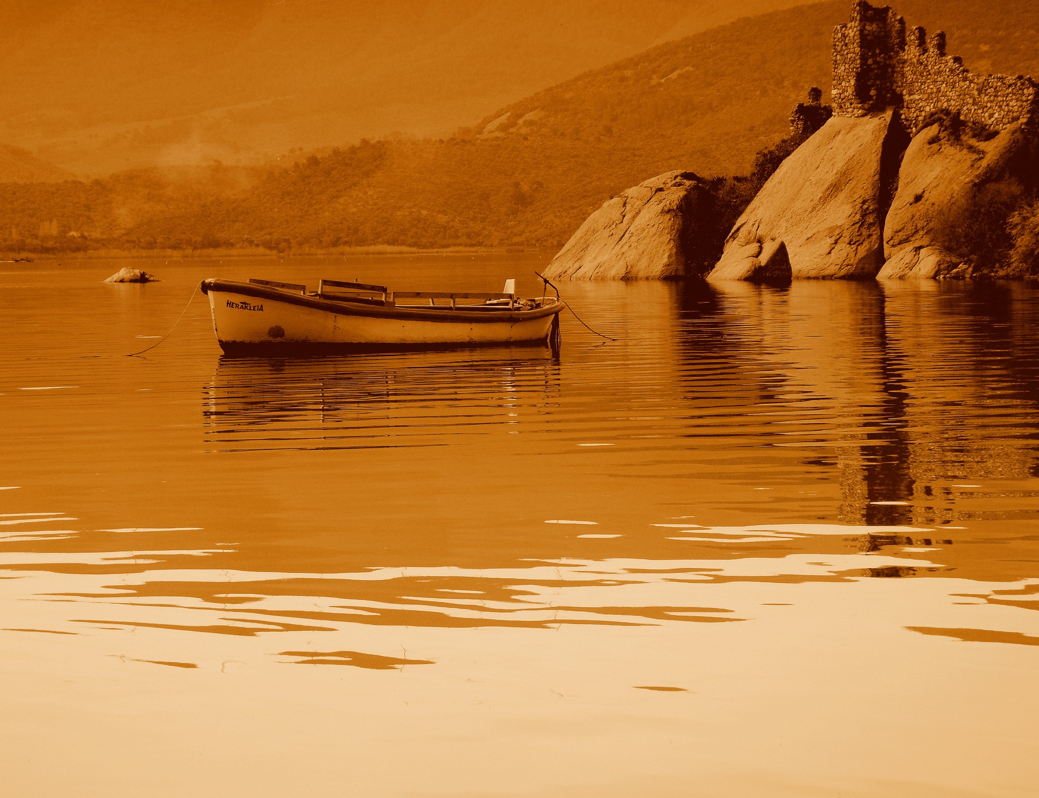 BAFA LAKE HERAKLEIA, SEPIA by Akin Saner