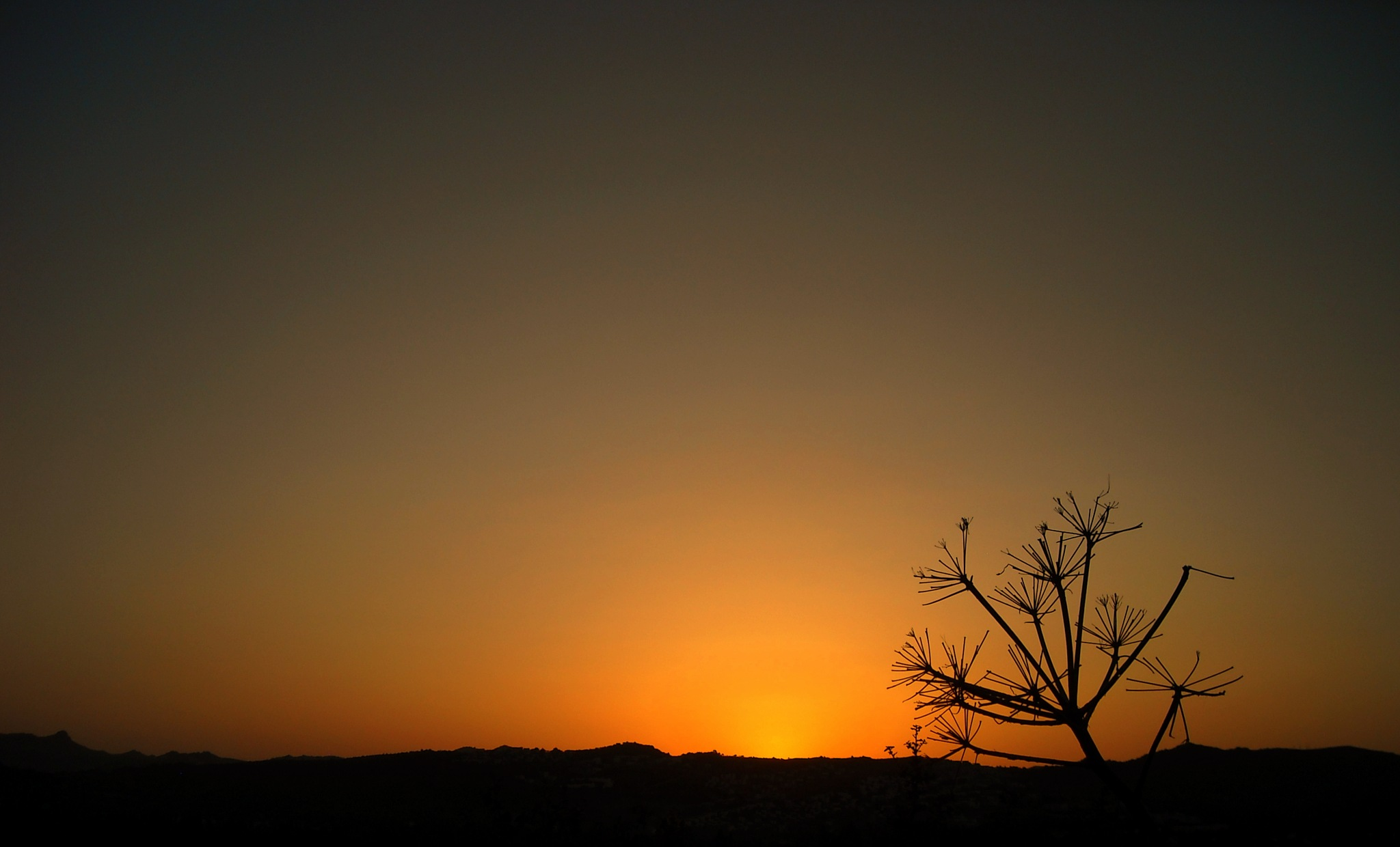SILHOUETTES FROM BITEZ HILLS AT SUNSET by Akin Saner