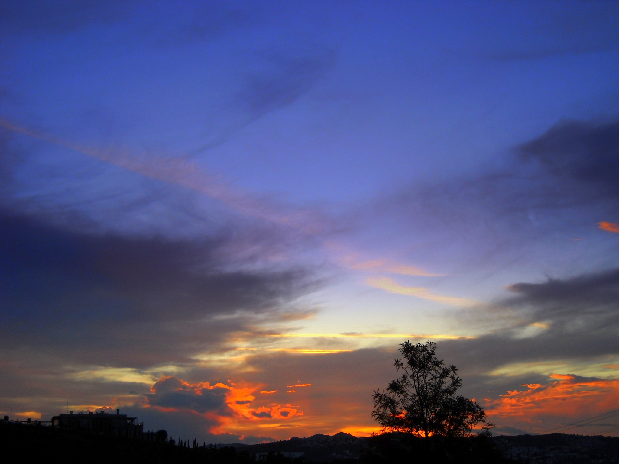 AFTER SUNSET VIEW , BITEZ, FROM MY BALCONY by Akin Saner