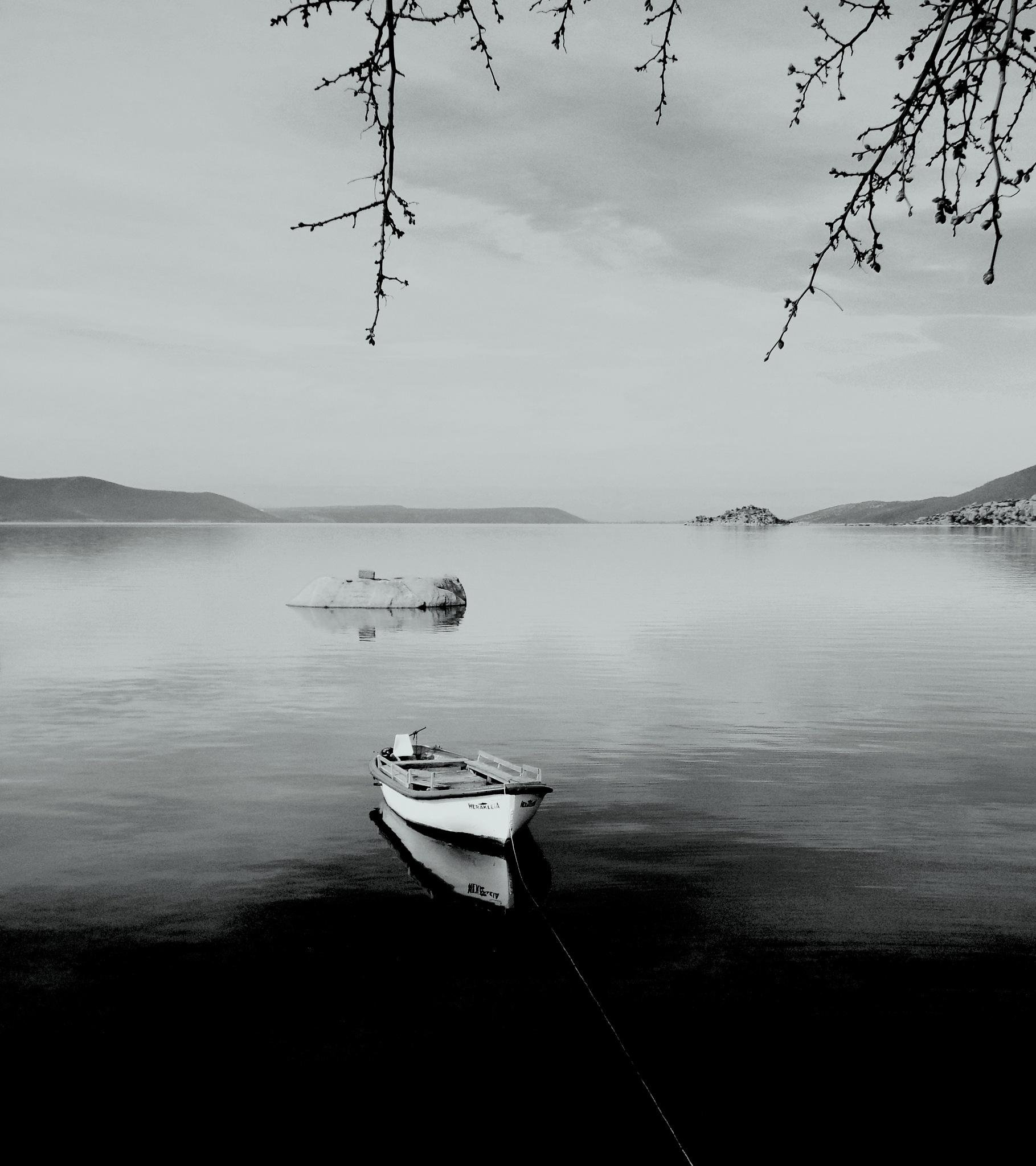 BAFA LAKE, HERAKLEIA, B&W, FULL SCREEN by Akin Saner