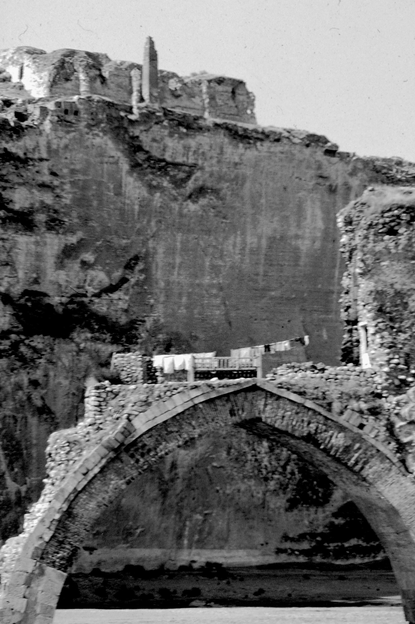 RUINS OF THE OLD BRIDGE OVER TIGRIS, B&W by Akin Saner