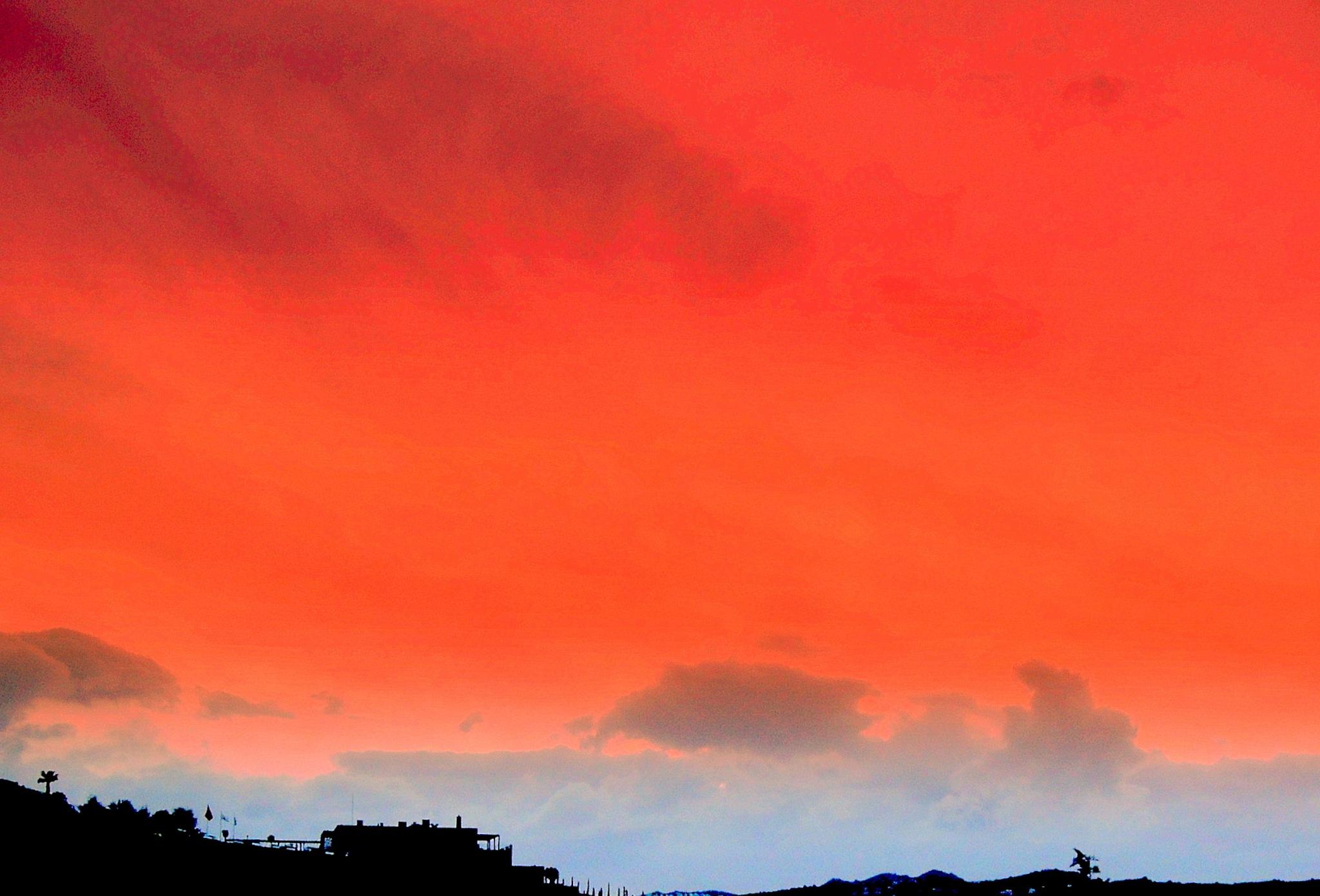 BEAUTIFUL WINTER SUNSET OF BITEZ by Akin Saner