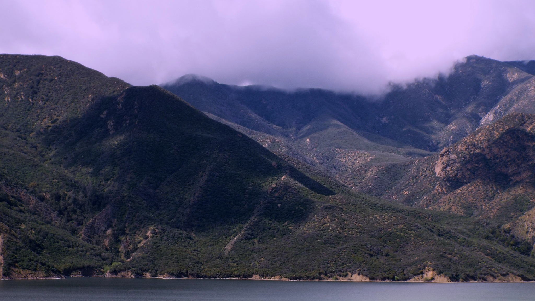 VIEW OF THE LAKE, ON THE WAY TO LOS ANGELES by Akin Saner