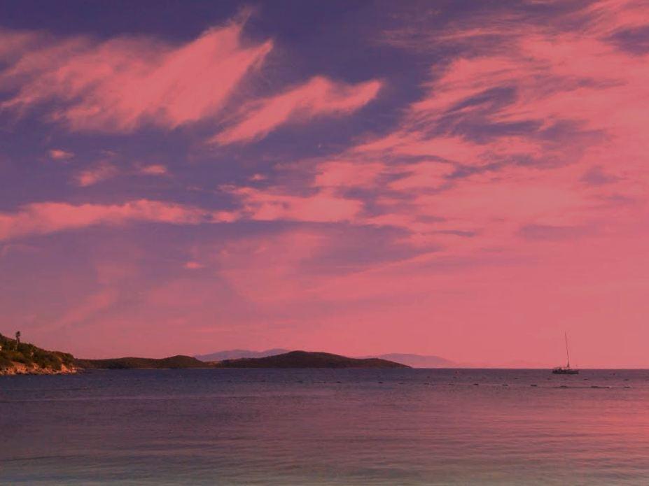 SUNSET OVER AKTUR BEACH by Akin Saner