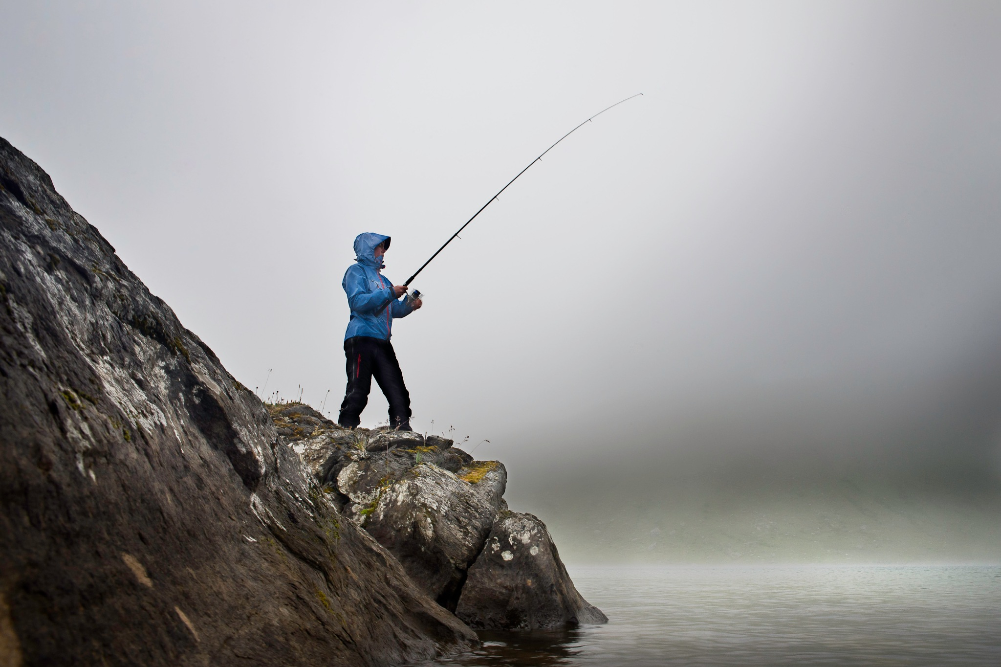 Fishing in bad weather by Magnus Eriksson
