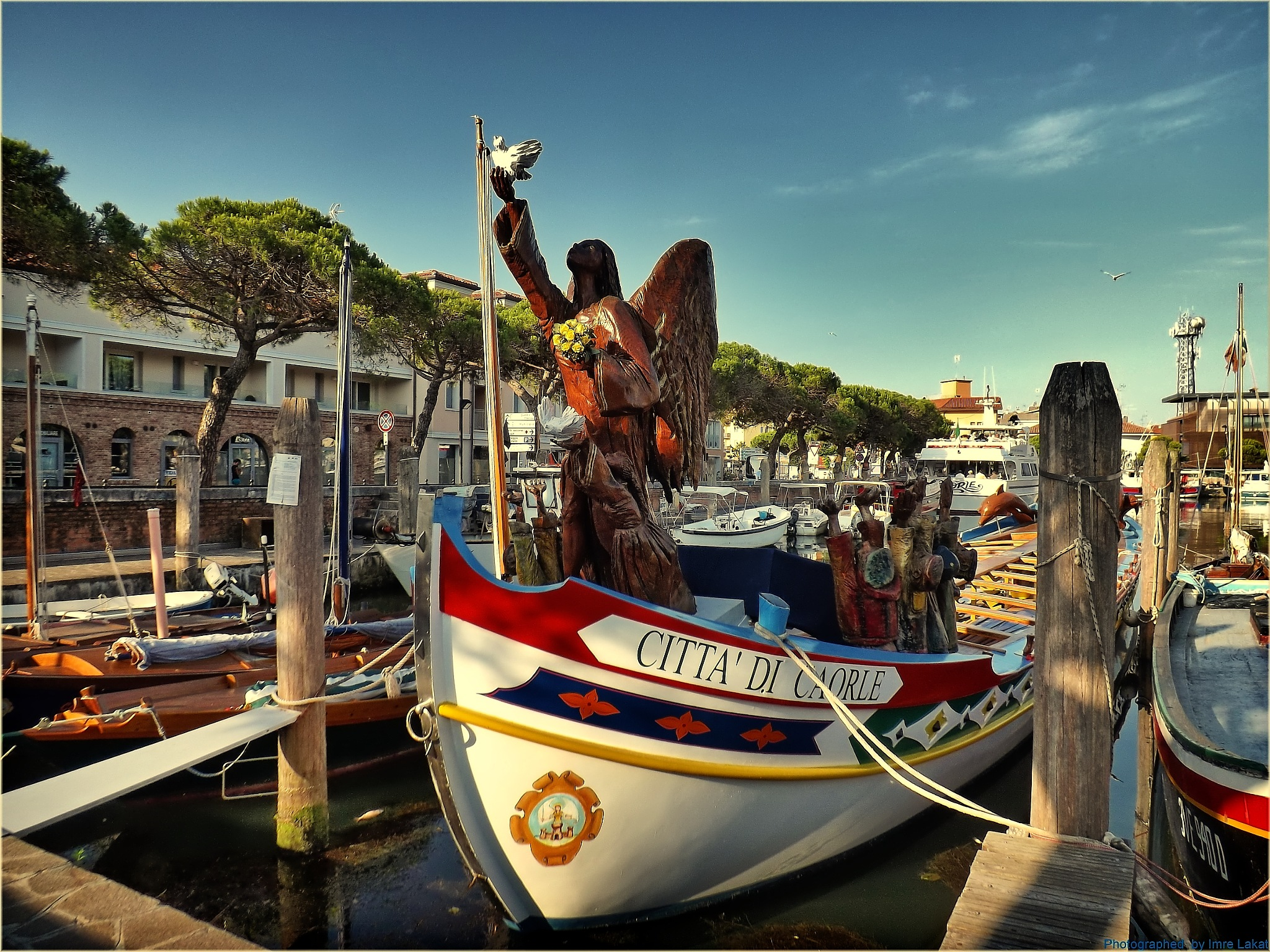 Caorle in boats Port  by Imre Lakat