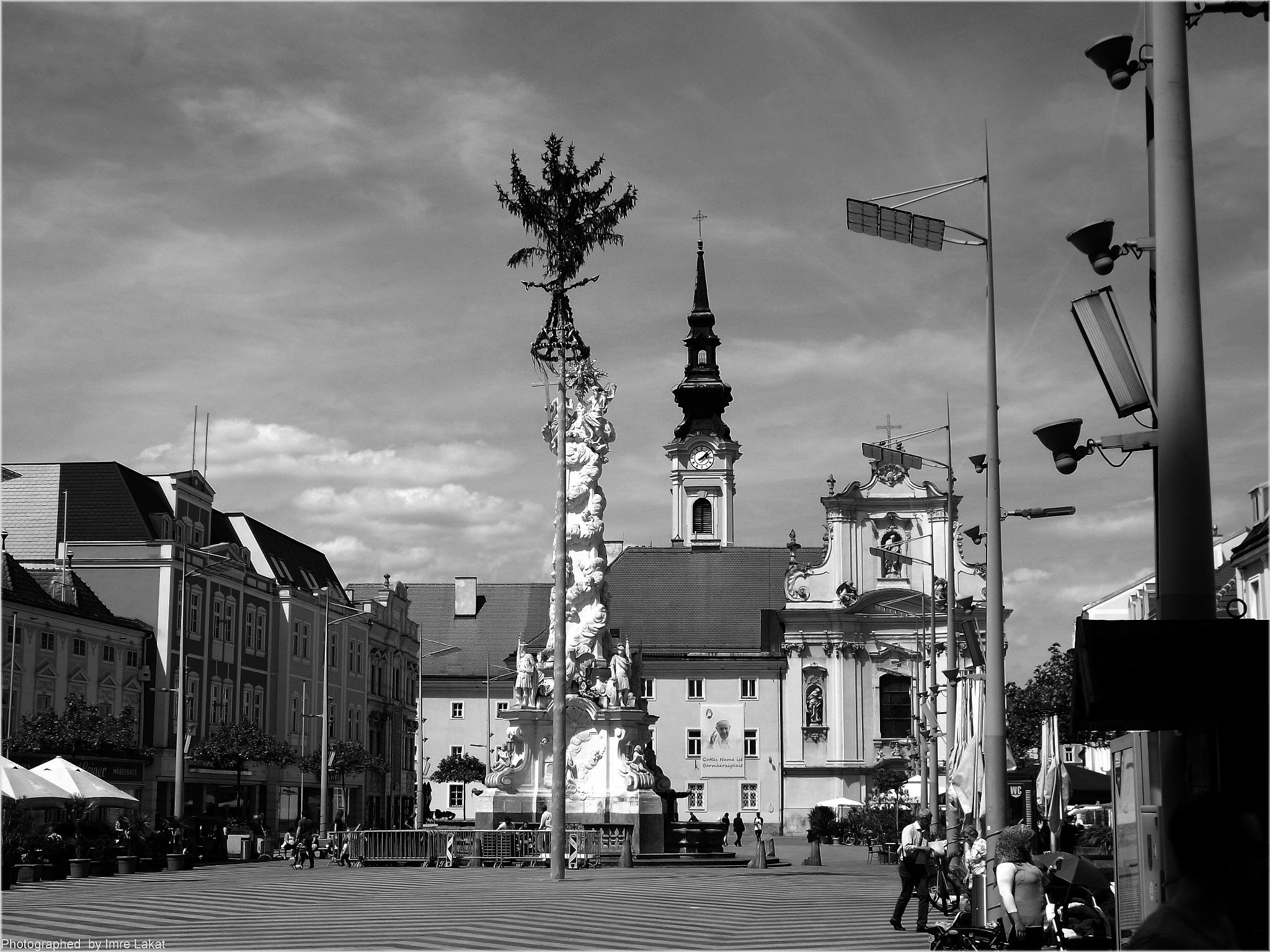 , Rathausplatz, Saint Pölten, Austria by Imre Lakat