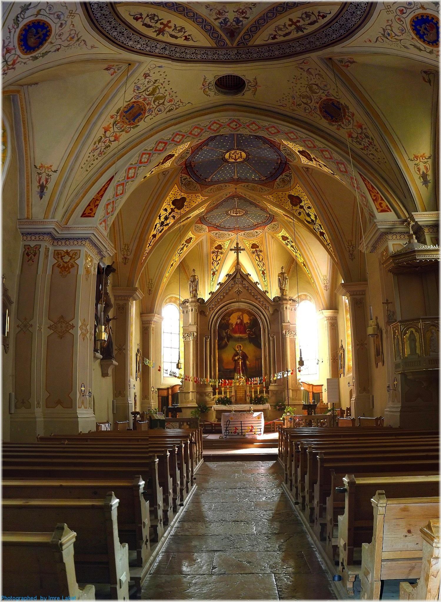 Interior  . Church of Piesendorf by Imre Lakat