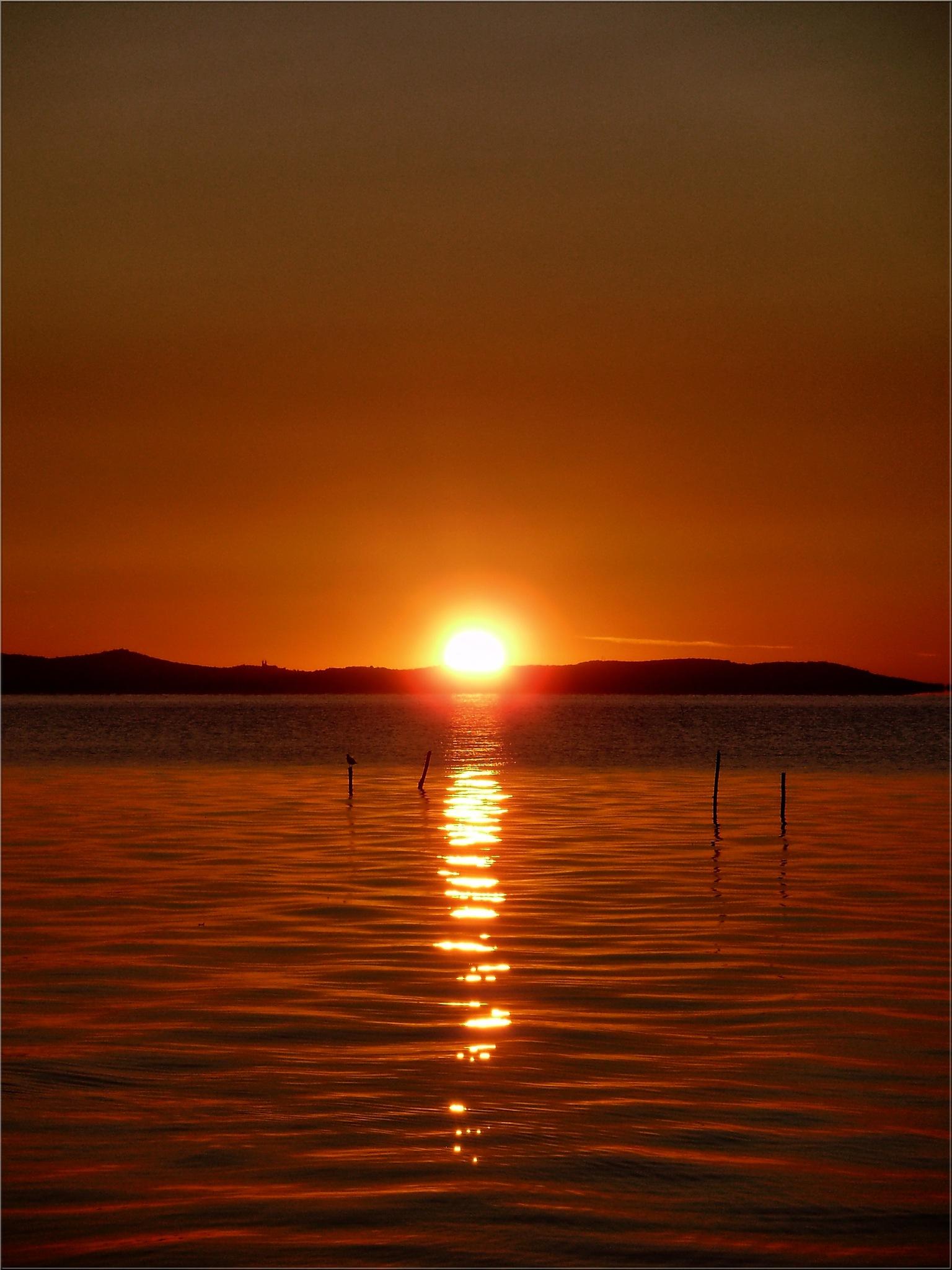 ..Sunrise am Balaton lake by Imre Lakat