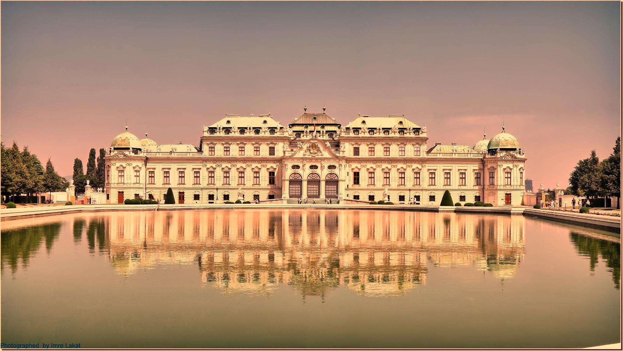 Belvedere Palace in Belvedere Schlossgarten  by Imre Lakat