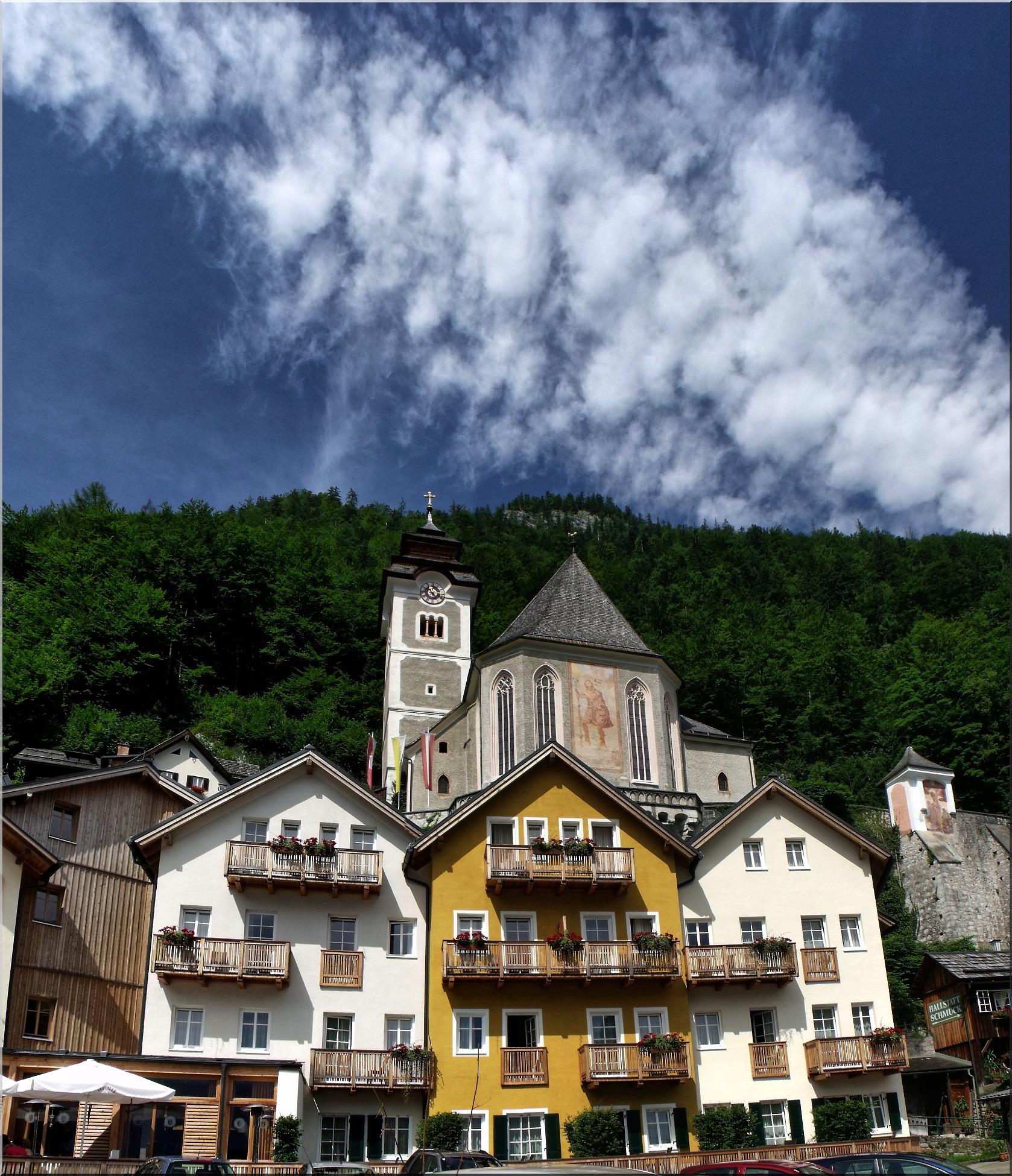 Pfarre Hallstatt  in Hallstatt centre by Imre Lakat