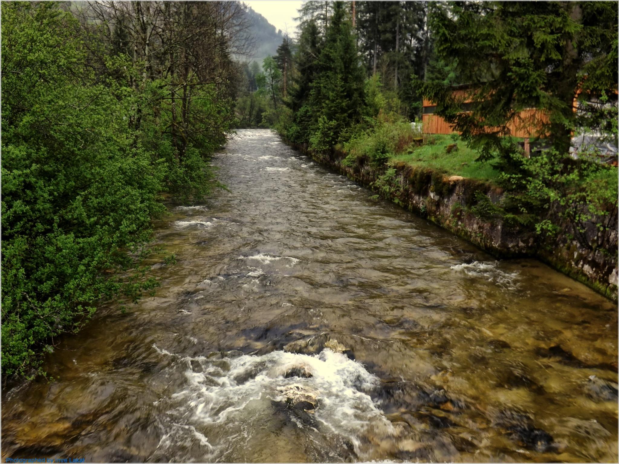 River near Bad Ausse by Imre Lakat