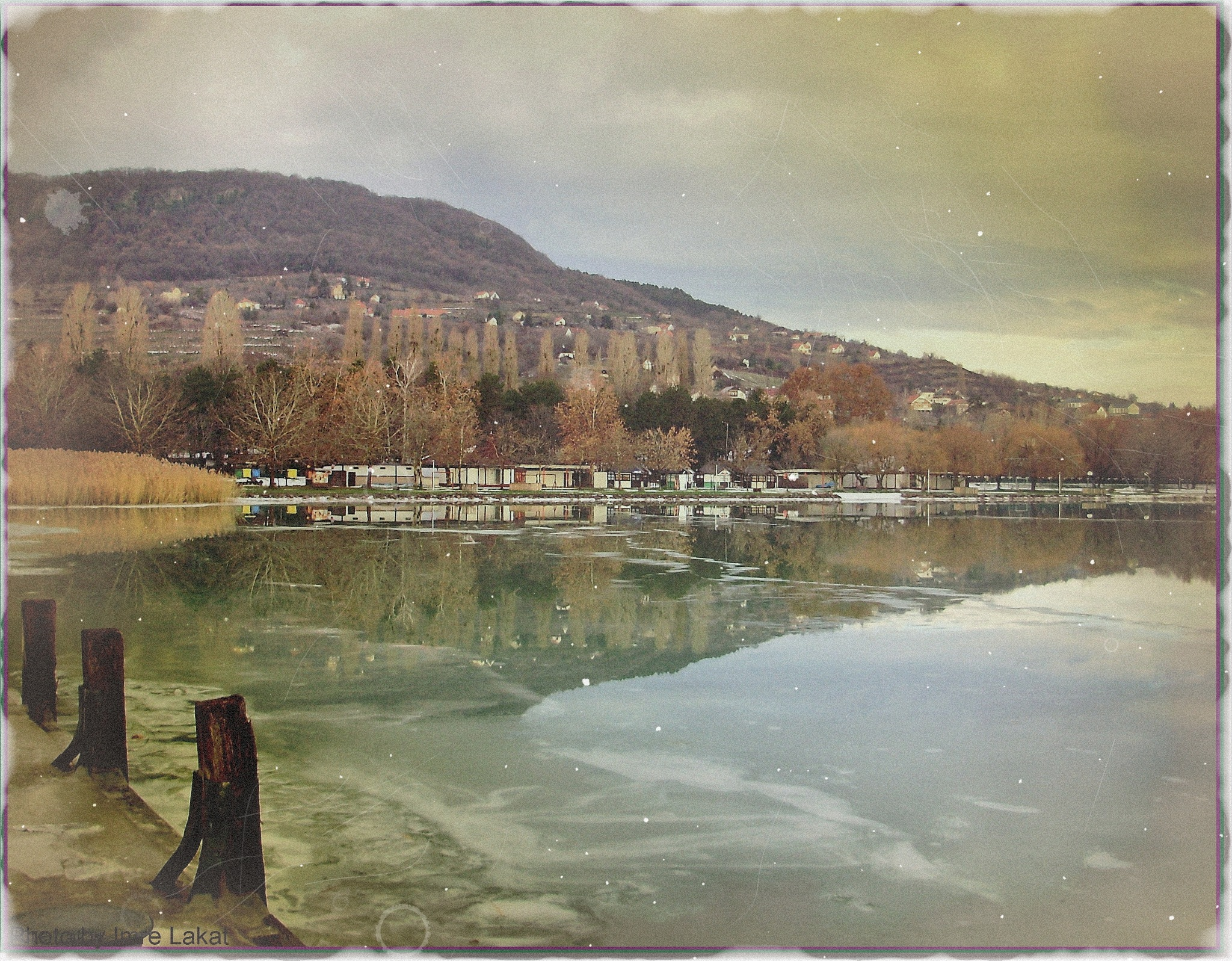 ...Ice's and water's, Badacsony harbour  by Imre Lakat