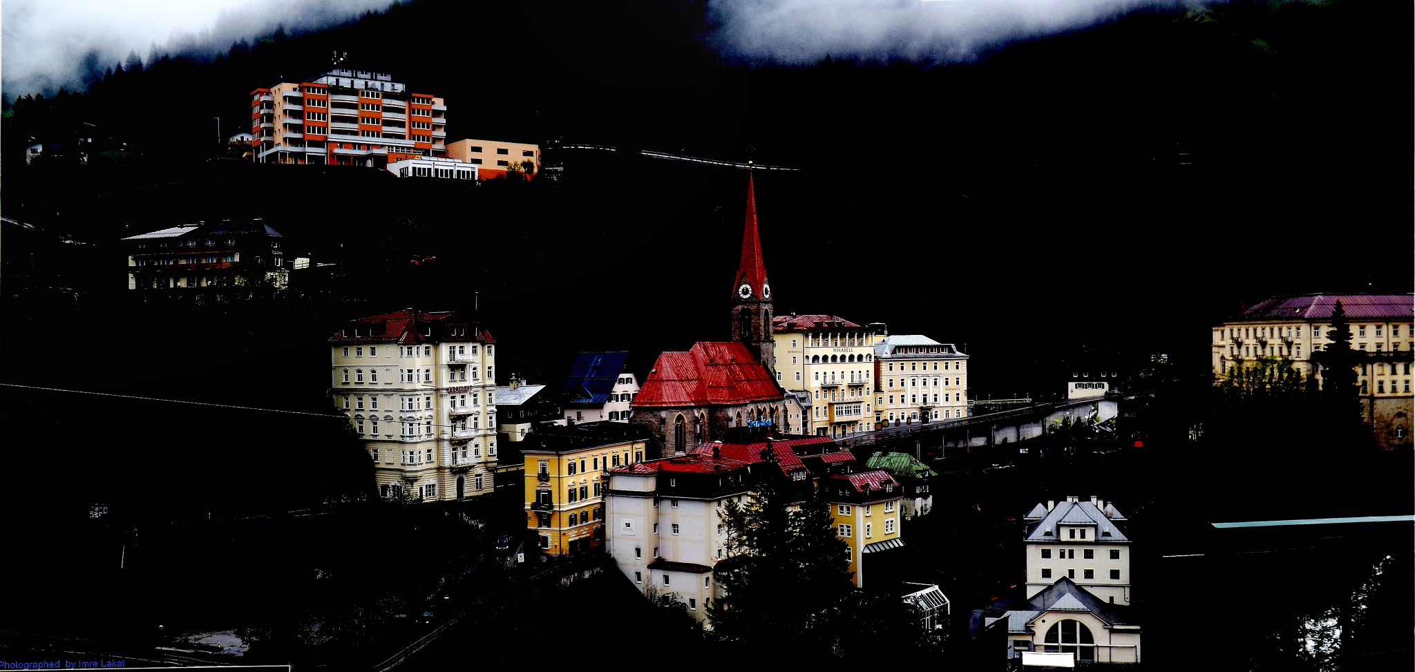 Bad Gastein street by Imre Lakat