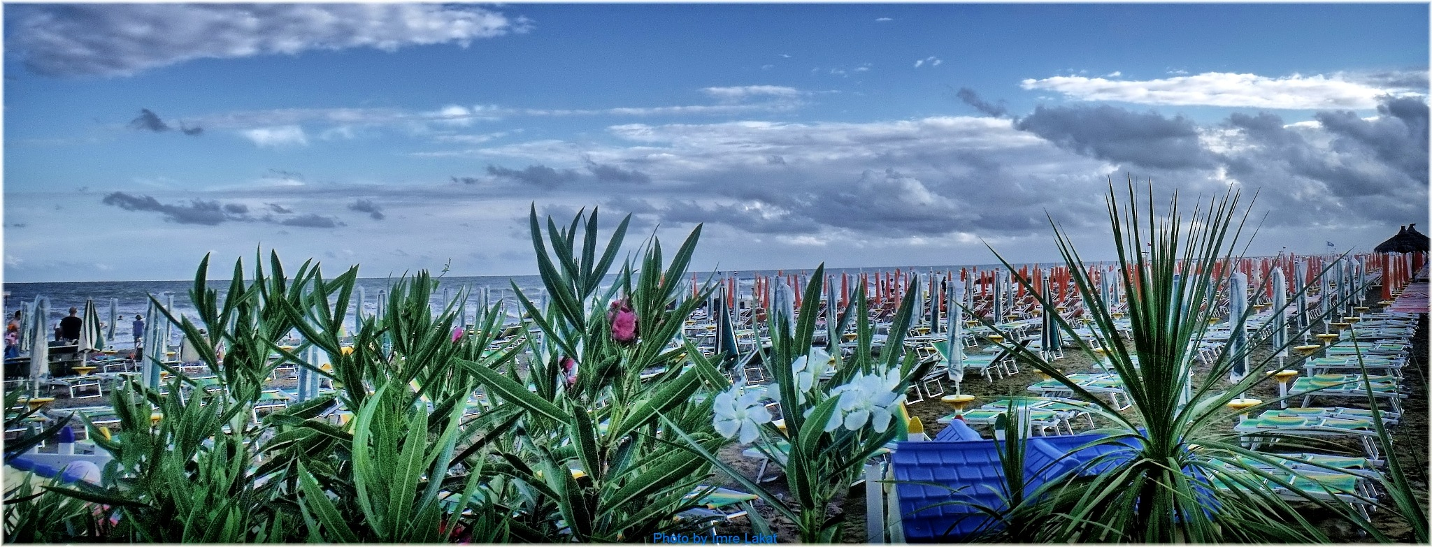 Beach in Caorle by Imre Lakat
