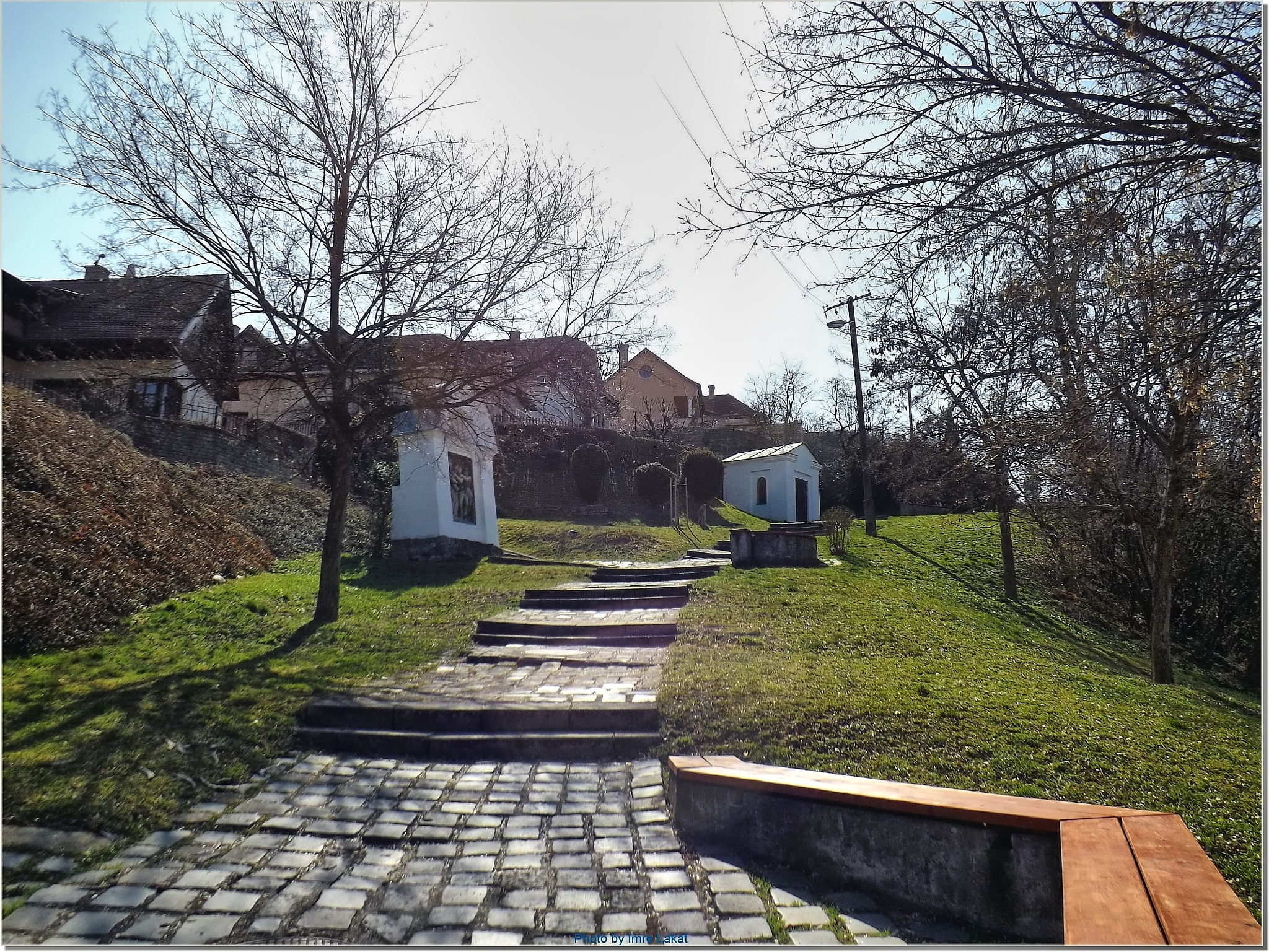Calvary road in Esztergom city by Imre Lakat