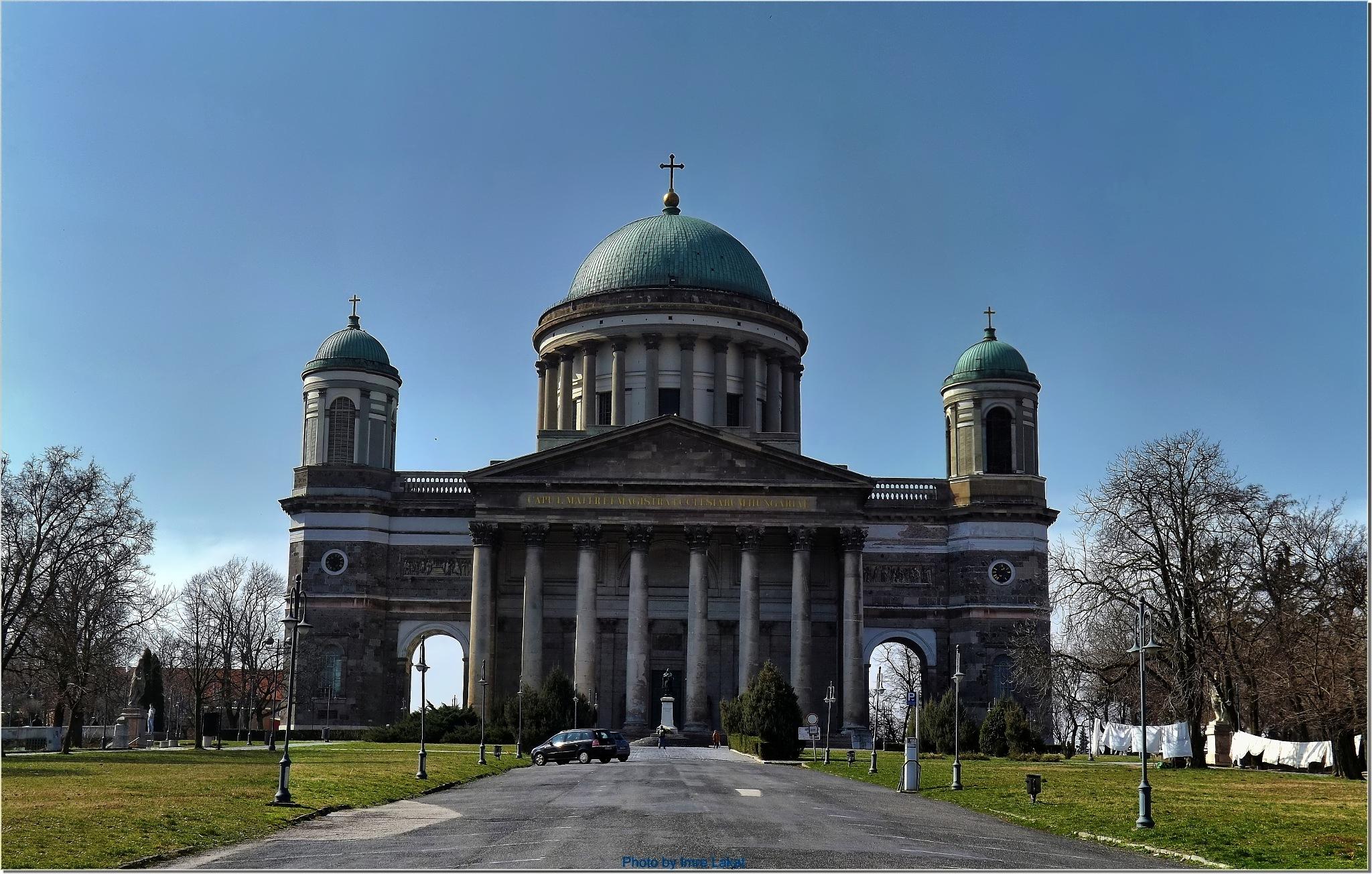 Basilica in Esztergom city by Imre Lakat