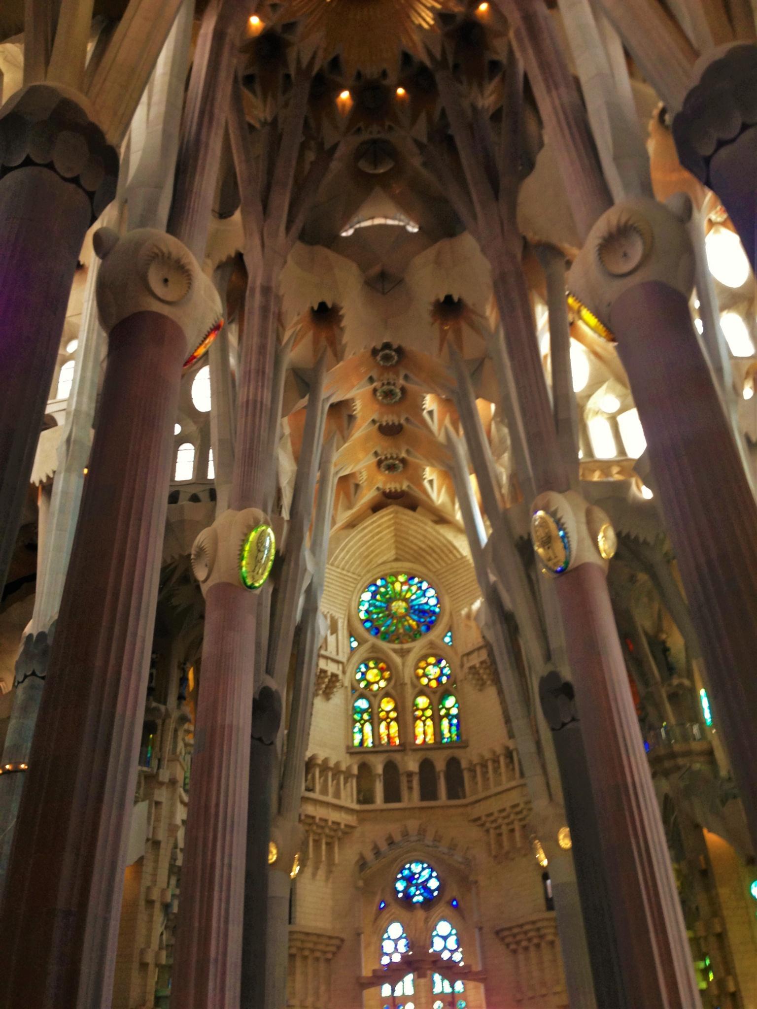 Inside La Sagrada Familia by Leonardo Penaranda