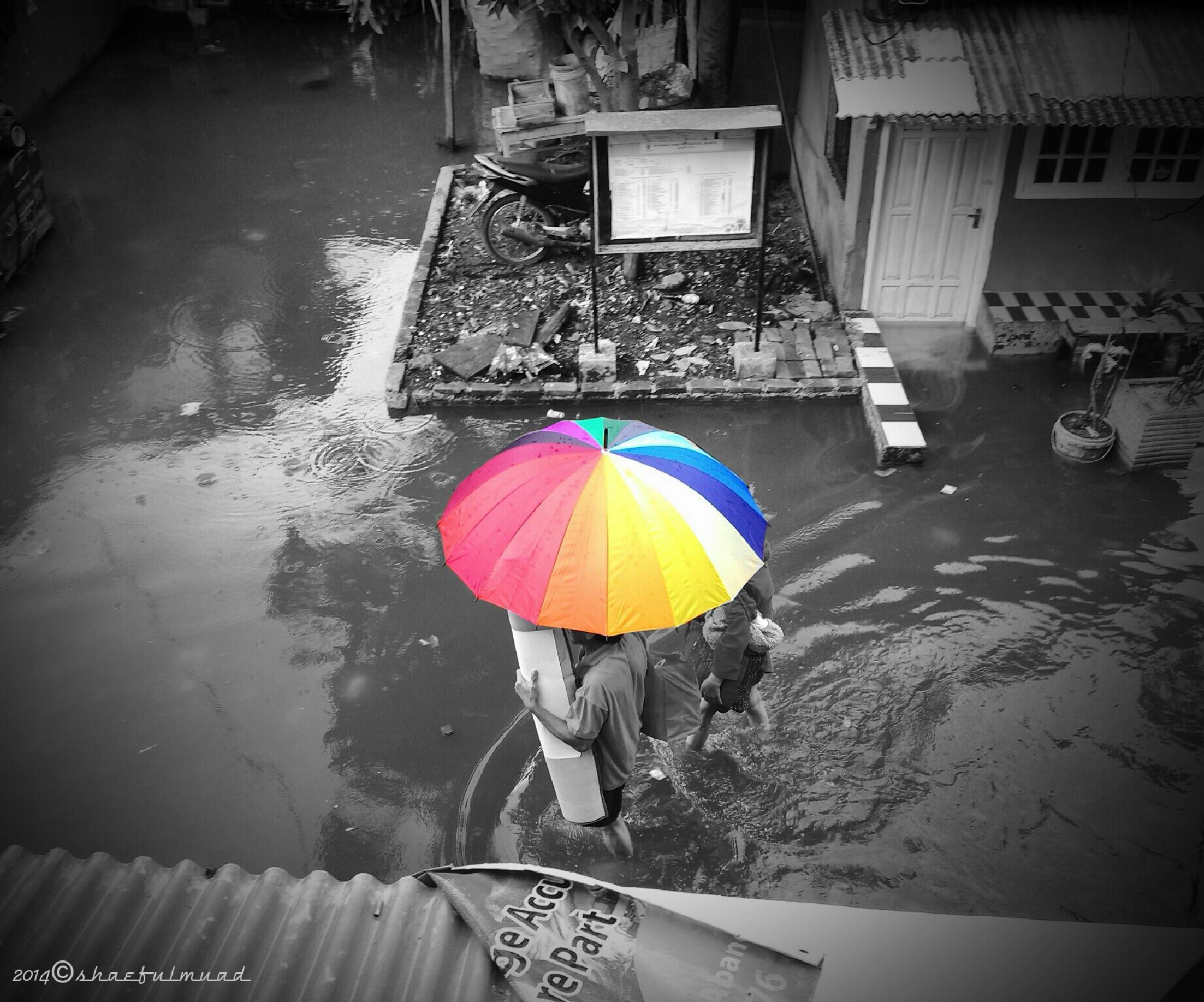 reversed flood jakarta by Shaeful Muad
