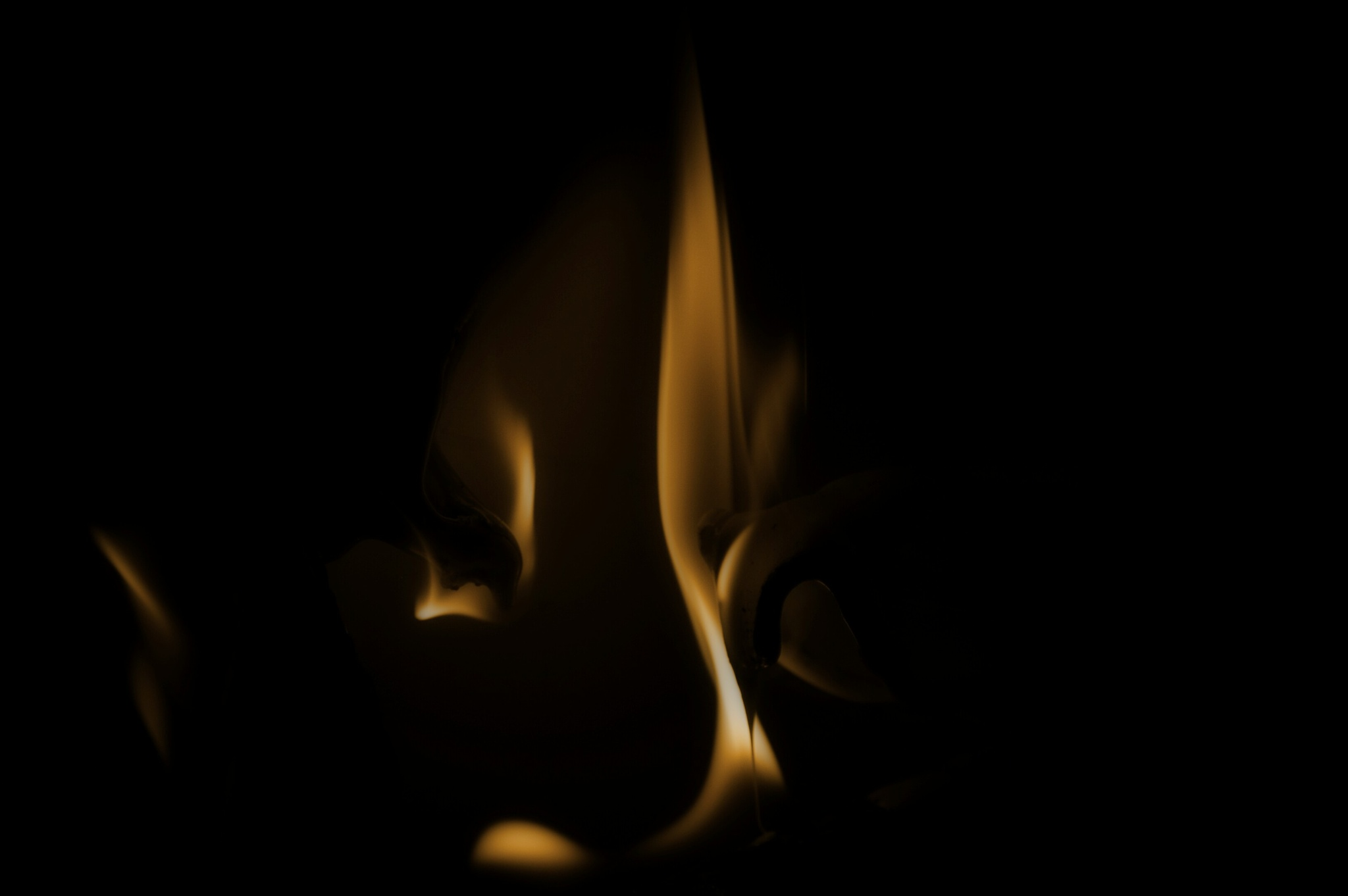 Late night flame by Diana Orey