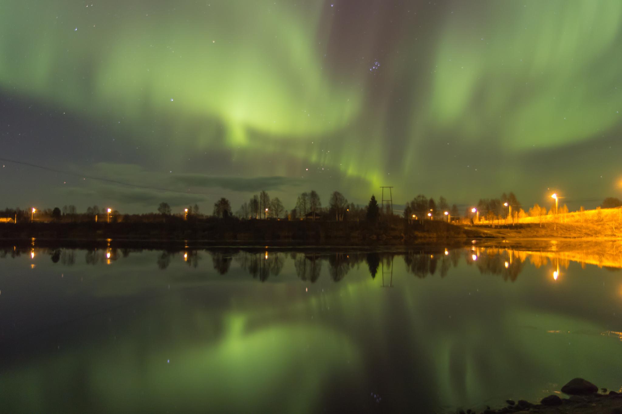 Aurora borealis by Anne Talvensaari