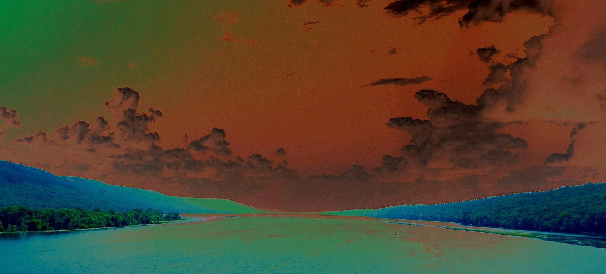 Neon River of Light by Alex Ingram