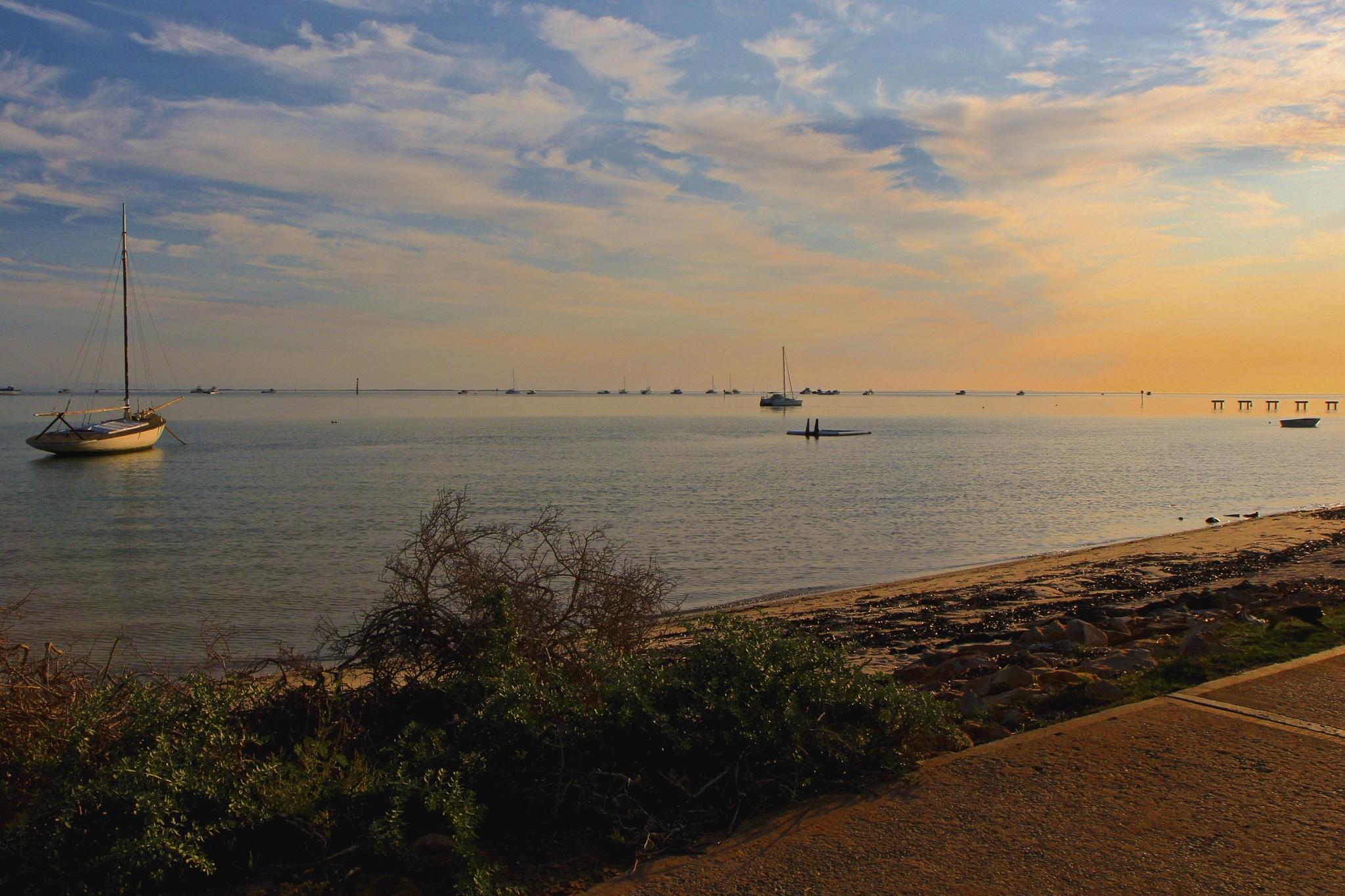 Sundown at Shark Bay. by Rovert