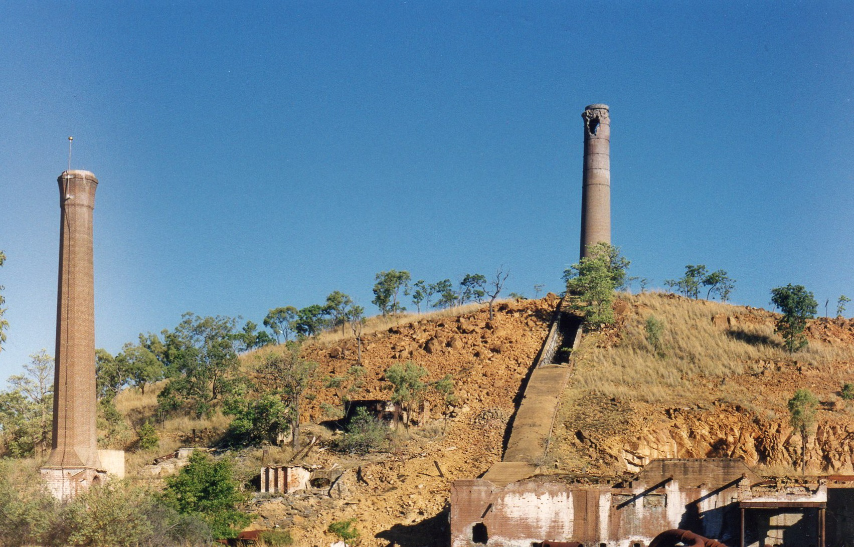 Smelter chimneys. by Rovert