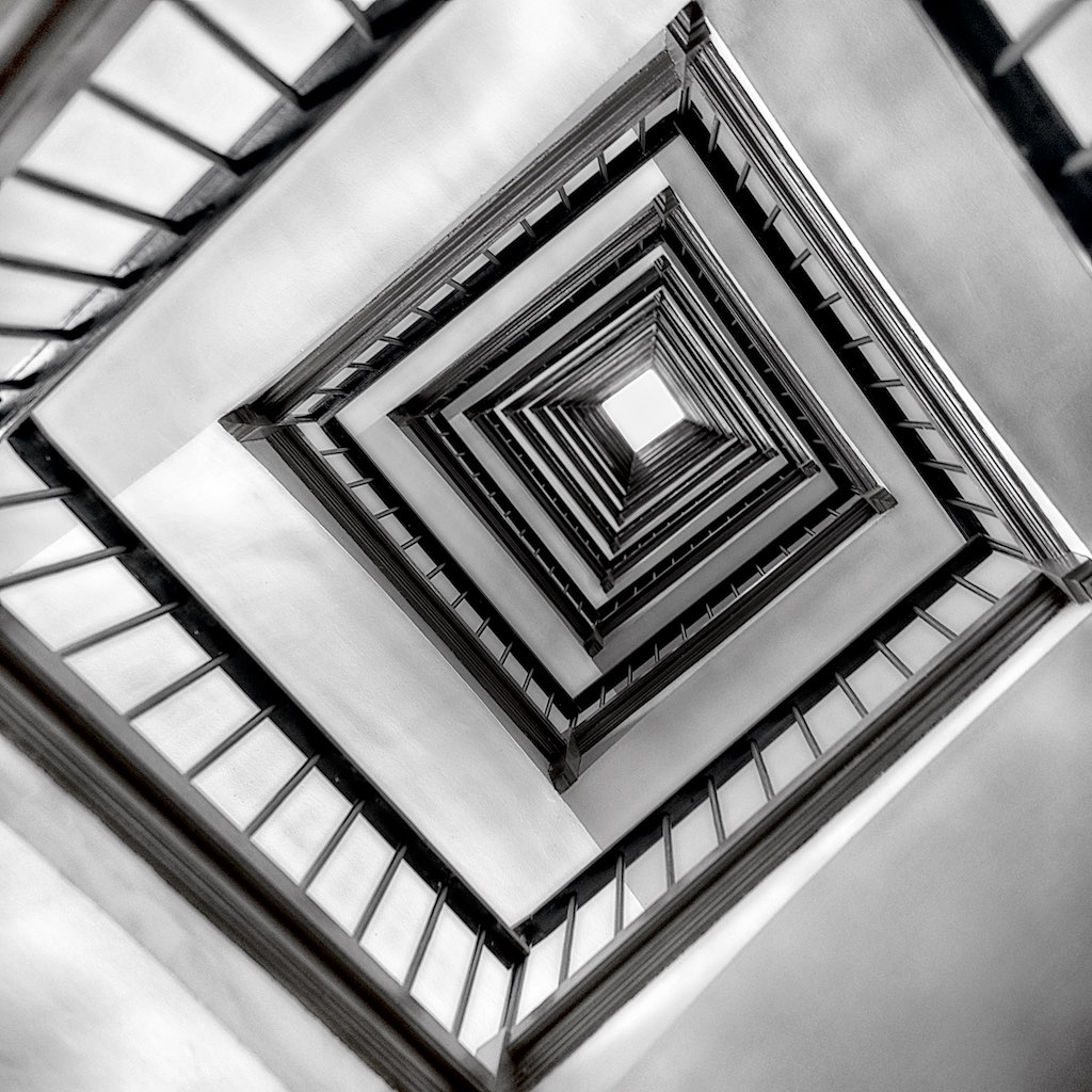 Stairs in Black and White Series by carlvanassche