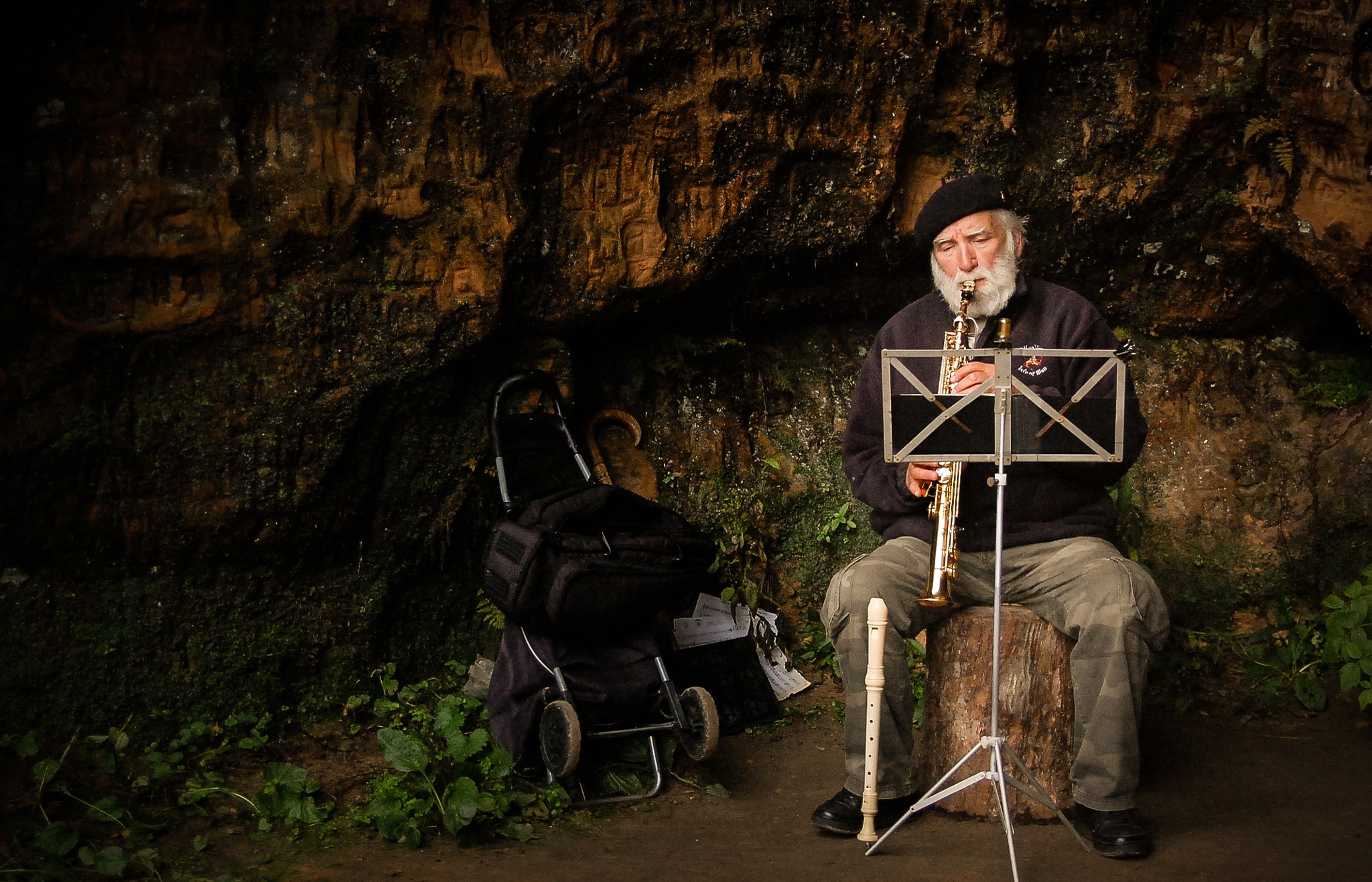 Music and old man  by Laura Ozolina photography