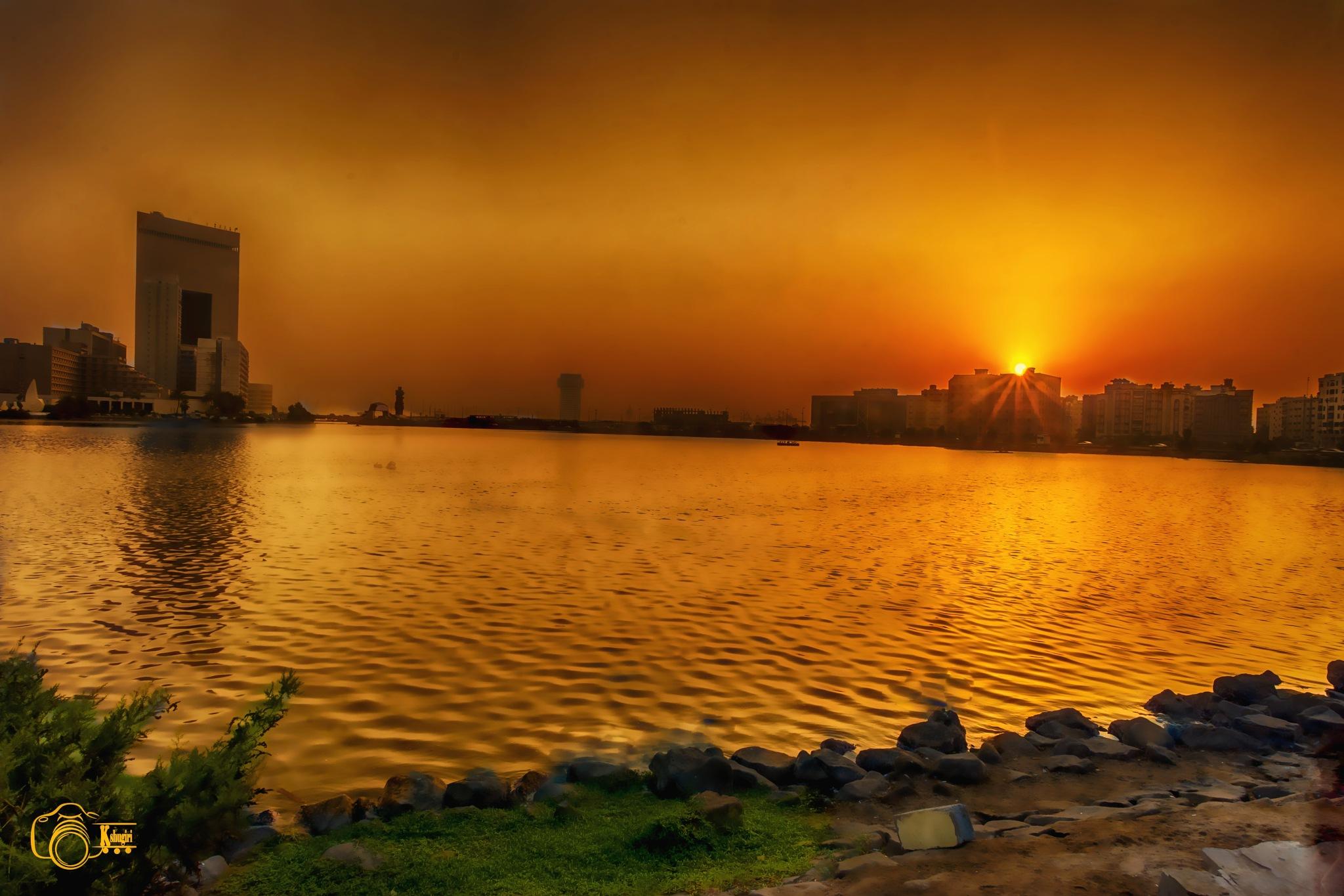 Sunset in jeddah by shagroon