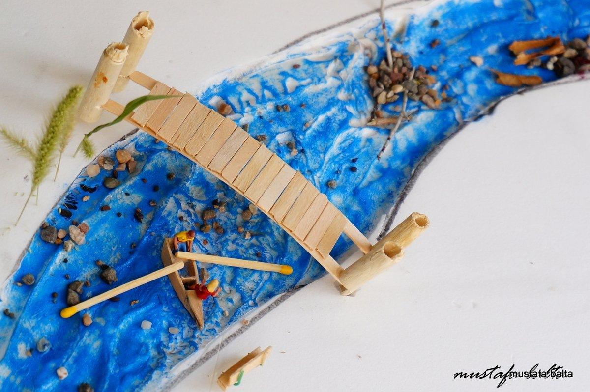 "Minicix Life "" Boat on The river "" by Mustafa Balta"