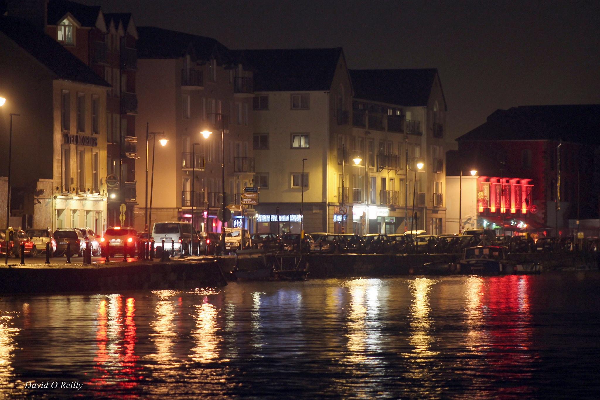 Dungarvan town at night  Ireland by Dáithí Ó Raghallaigh